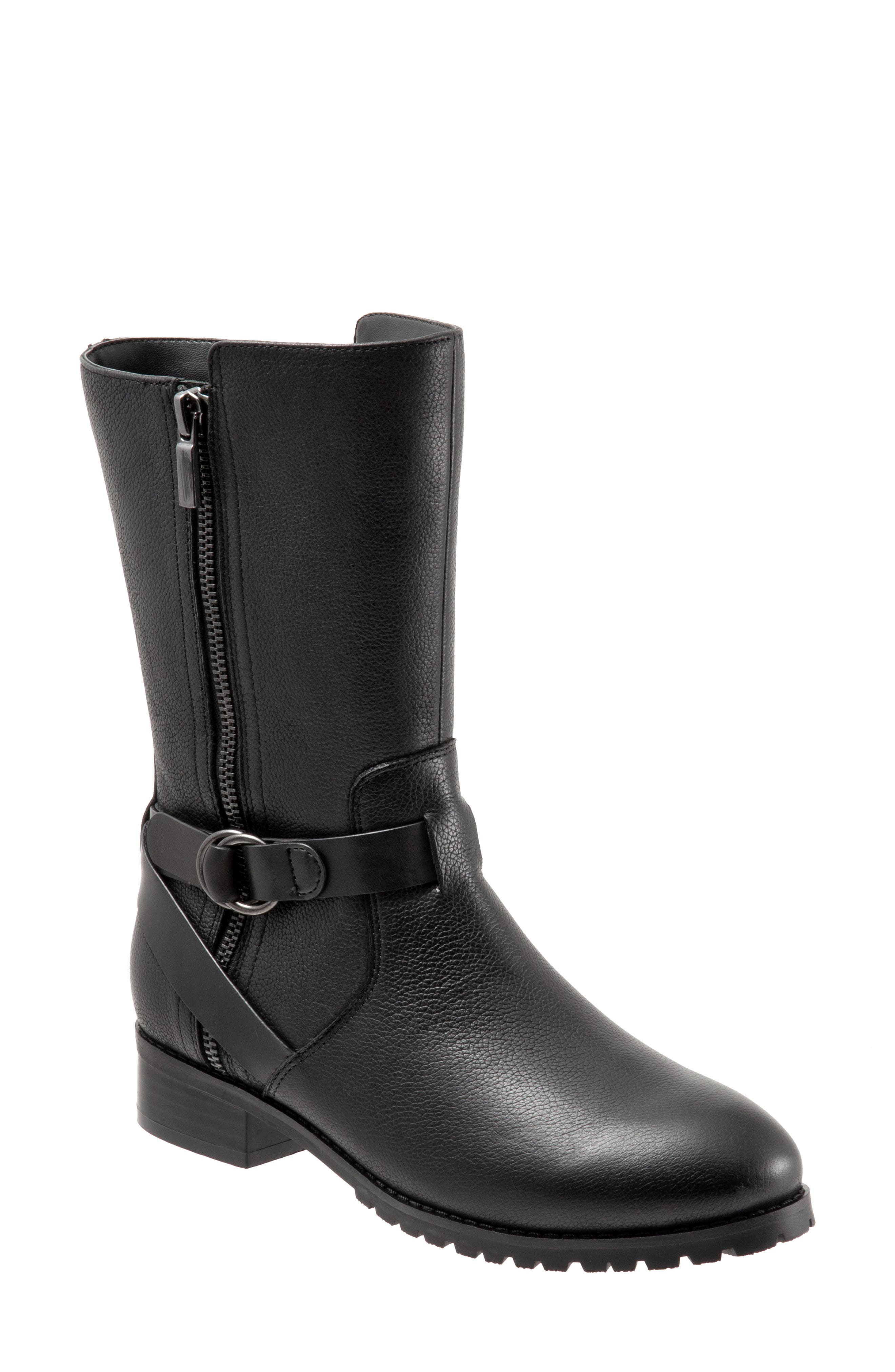 Marlowe Boot,                         Main,                         color, BLACK LEATHER
