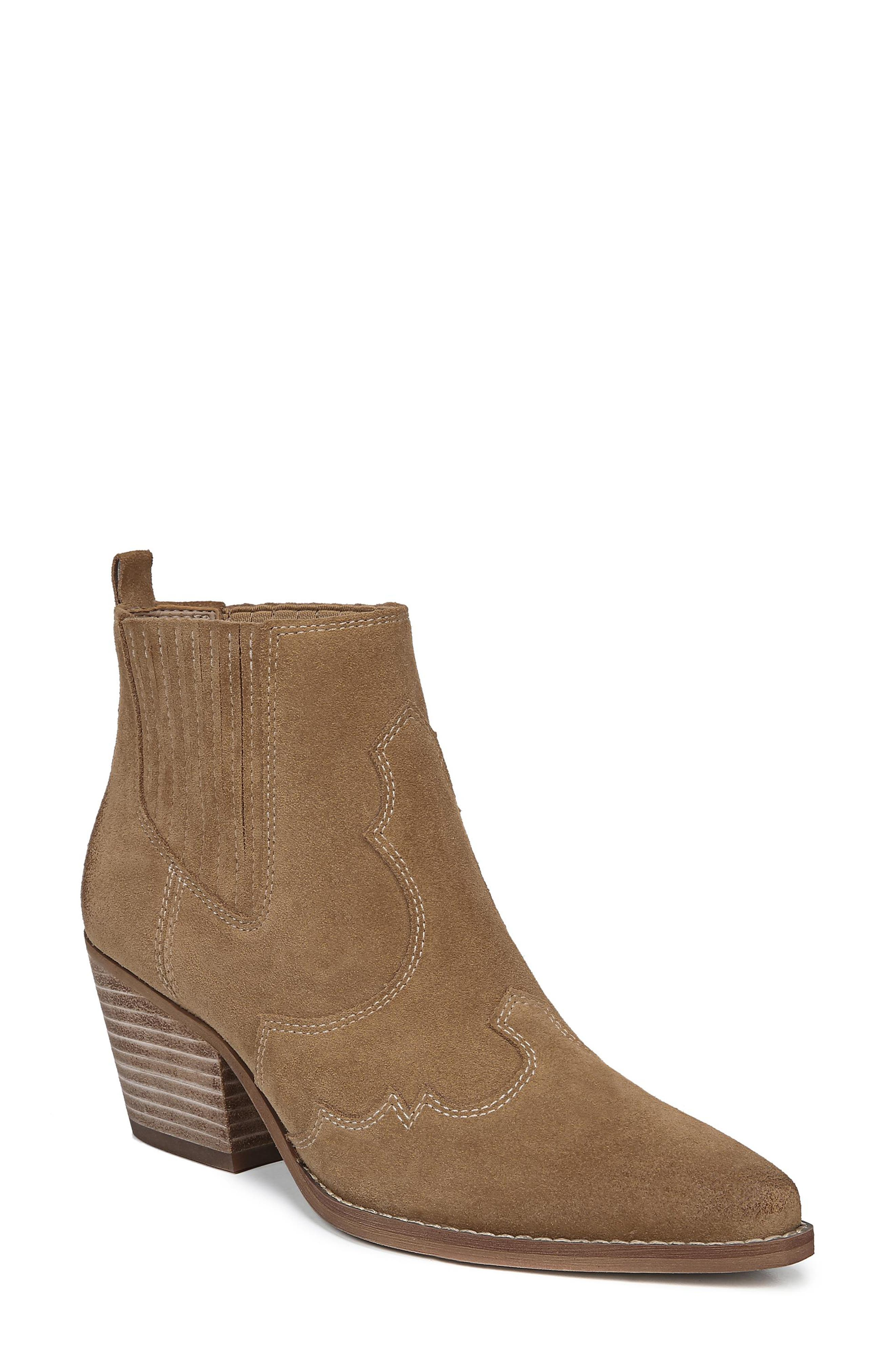 Sam Edelman Winona Genuine Calf Hair Bootie, Brown