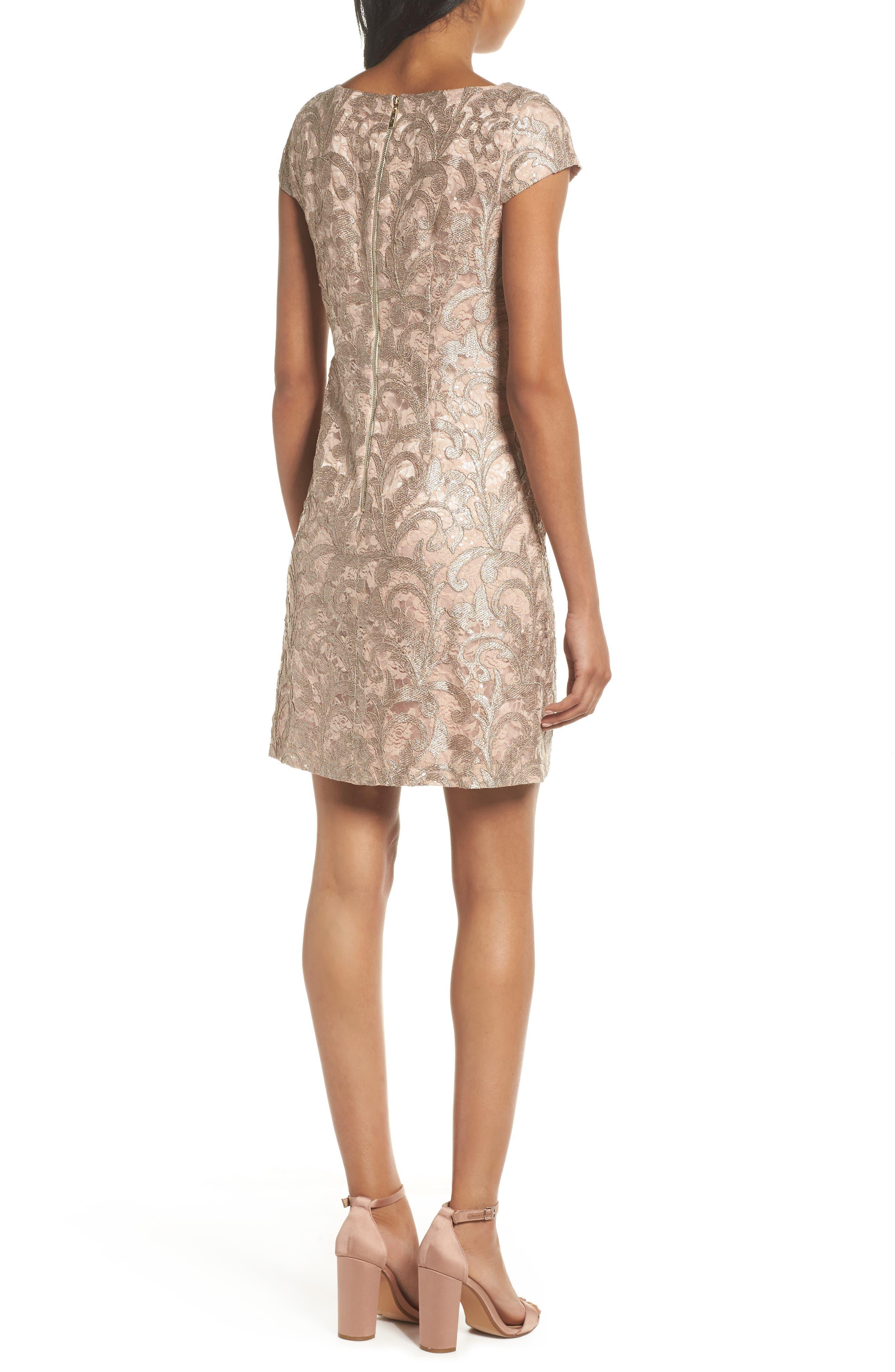 Lace Shift Dress,                             Alternate thumbnail 2, color,                             684