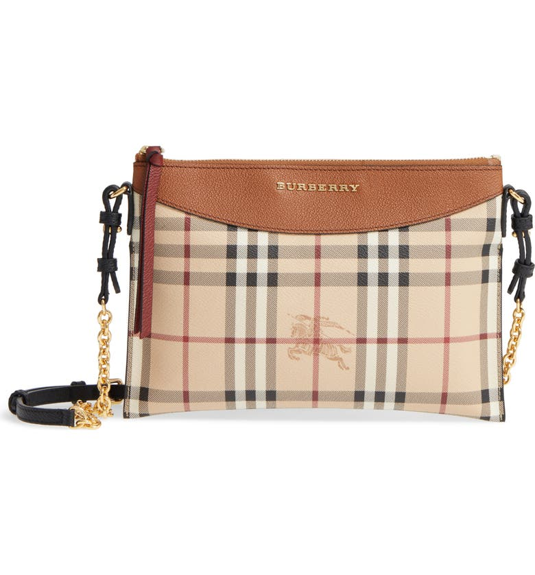 Burberry Peyton - Haymarket Check Coated Canvas Crossbody Bag ... 129be5d4cbee0
