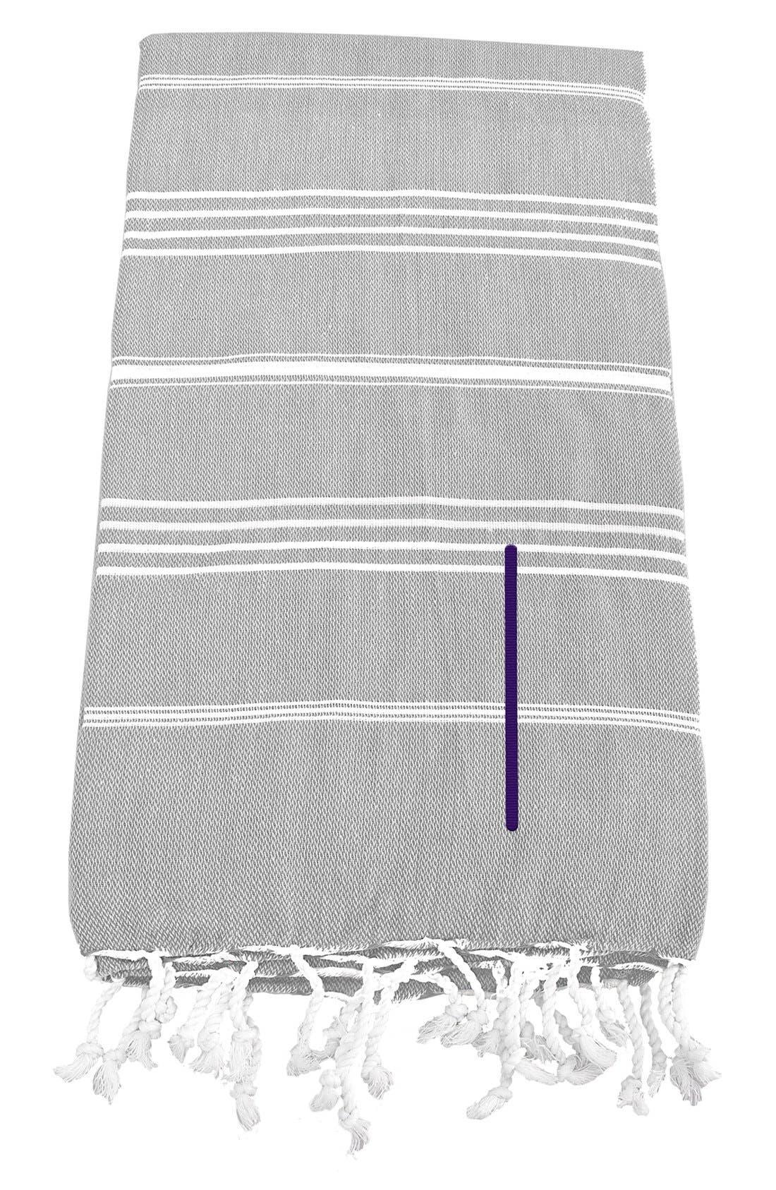 Monogram Turkish Cotton Towel,                             Main thumbnail 11, color,