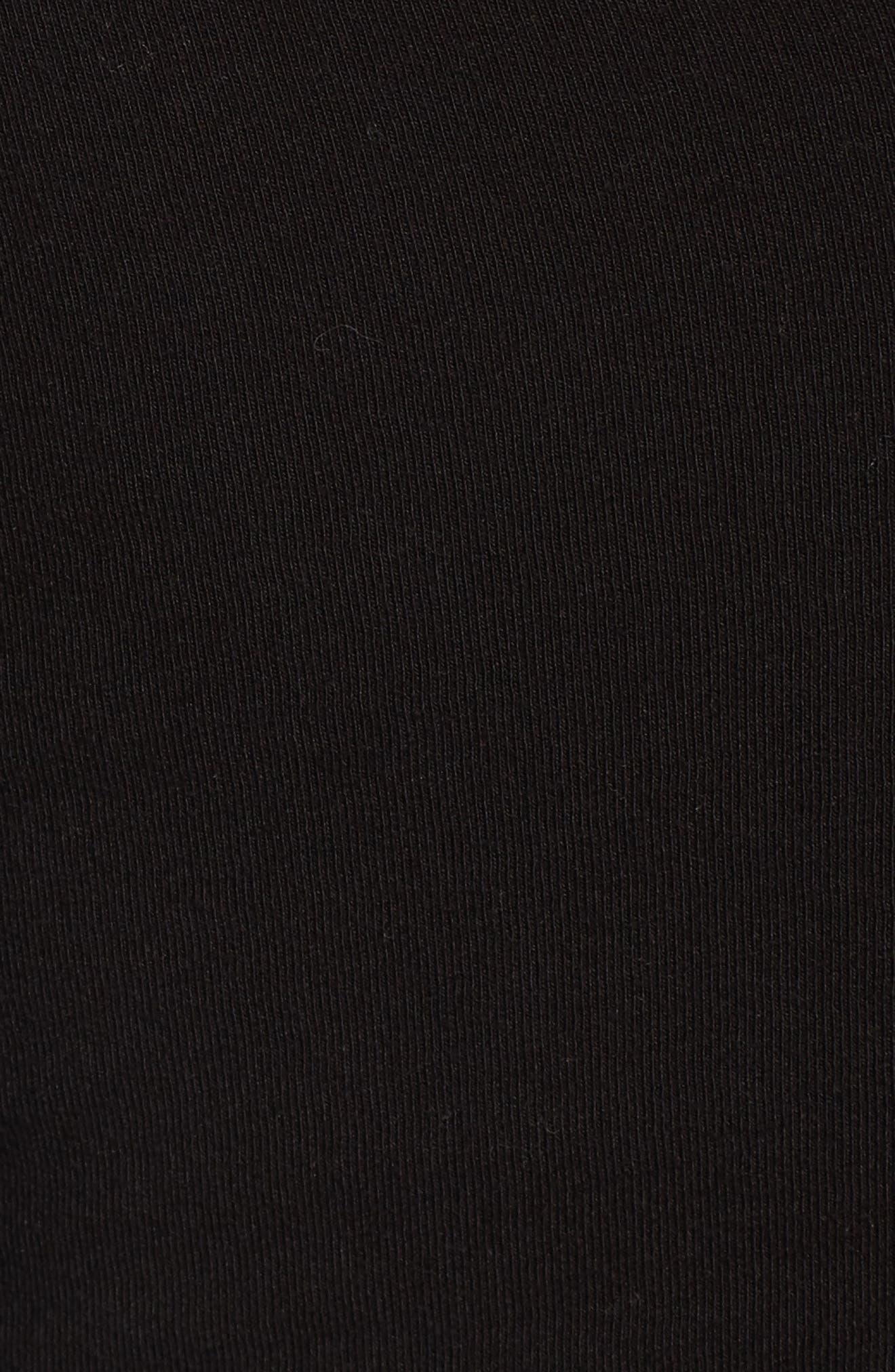 Tucked Faux Wrap Dress,                             Alternate thumbnail 6, color,                             001