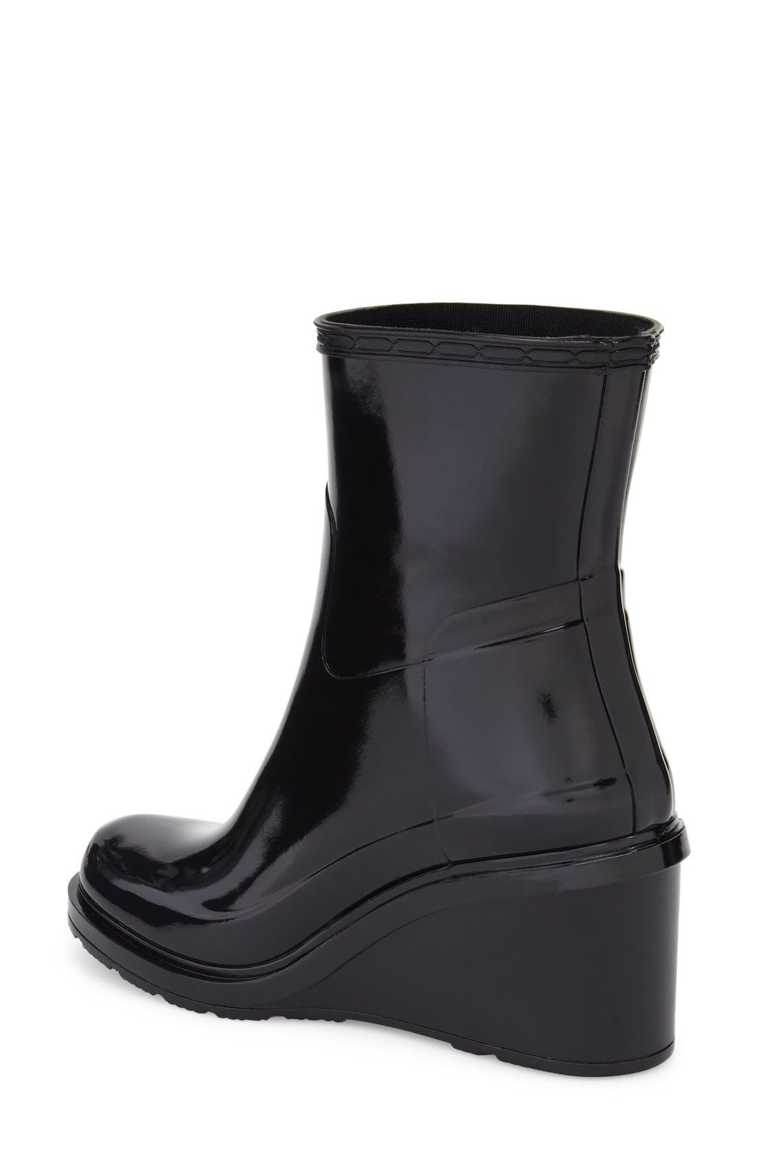 Original Refined Wedge Rain Boot,                             Alternate thumbnail 2, color,                             001
