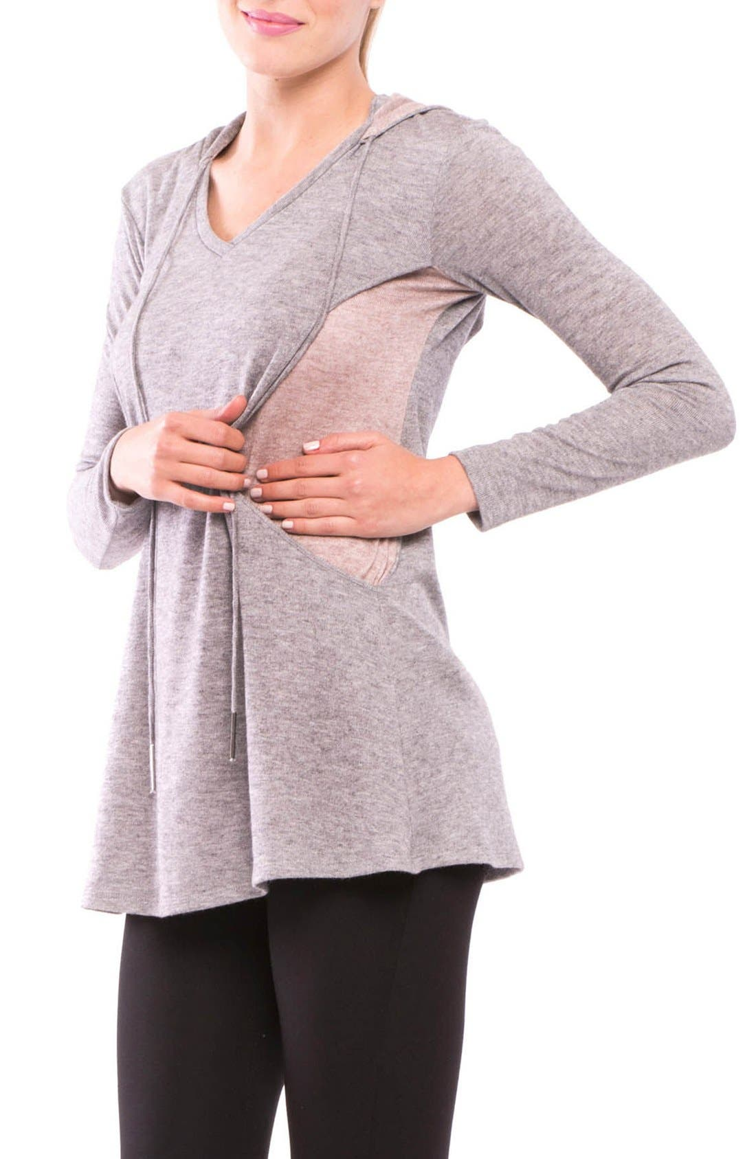 Olivia Maternity/Nursing Hoodie,                             Alternate thumbnail 2, color,                             020