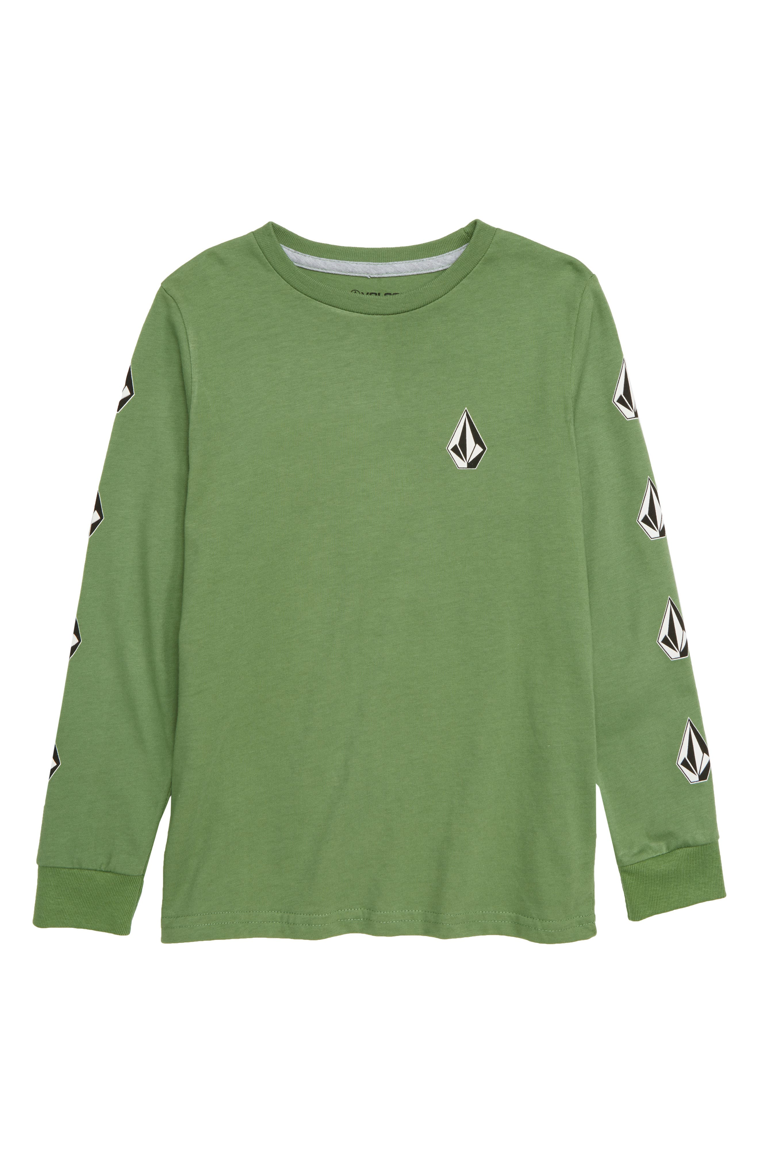 Deadlystones Graphic Long Sleeve T-Shirt,                         Main,                         color, DARK KELLY