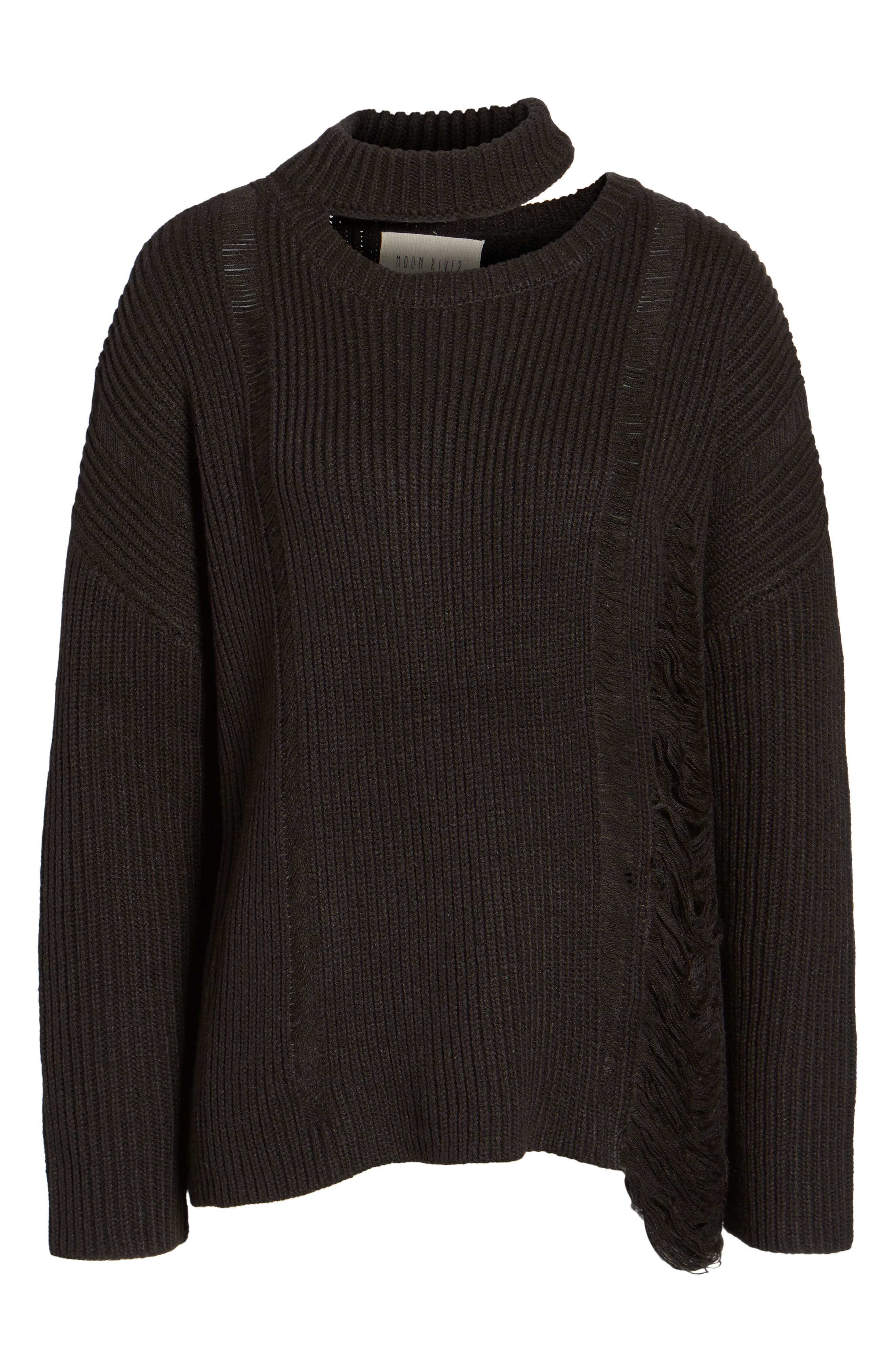 Destroyed Sweater,                             Alternate thumbnail 6, color,                             001