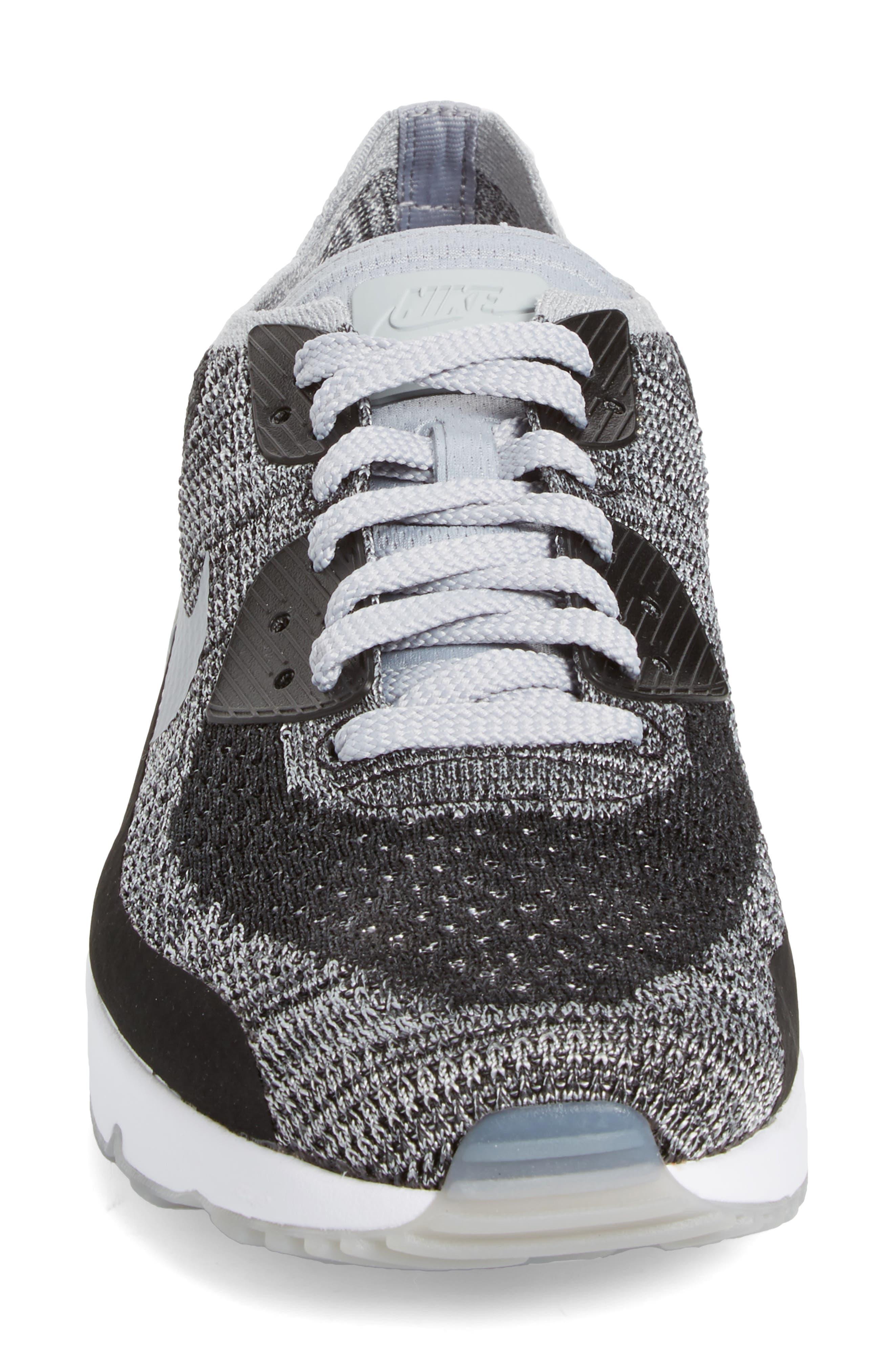 Air Max 90 Ultra 2.0 Flyknit Sneaker,                             Alternate thumbnail 4, color,                             005