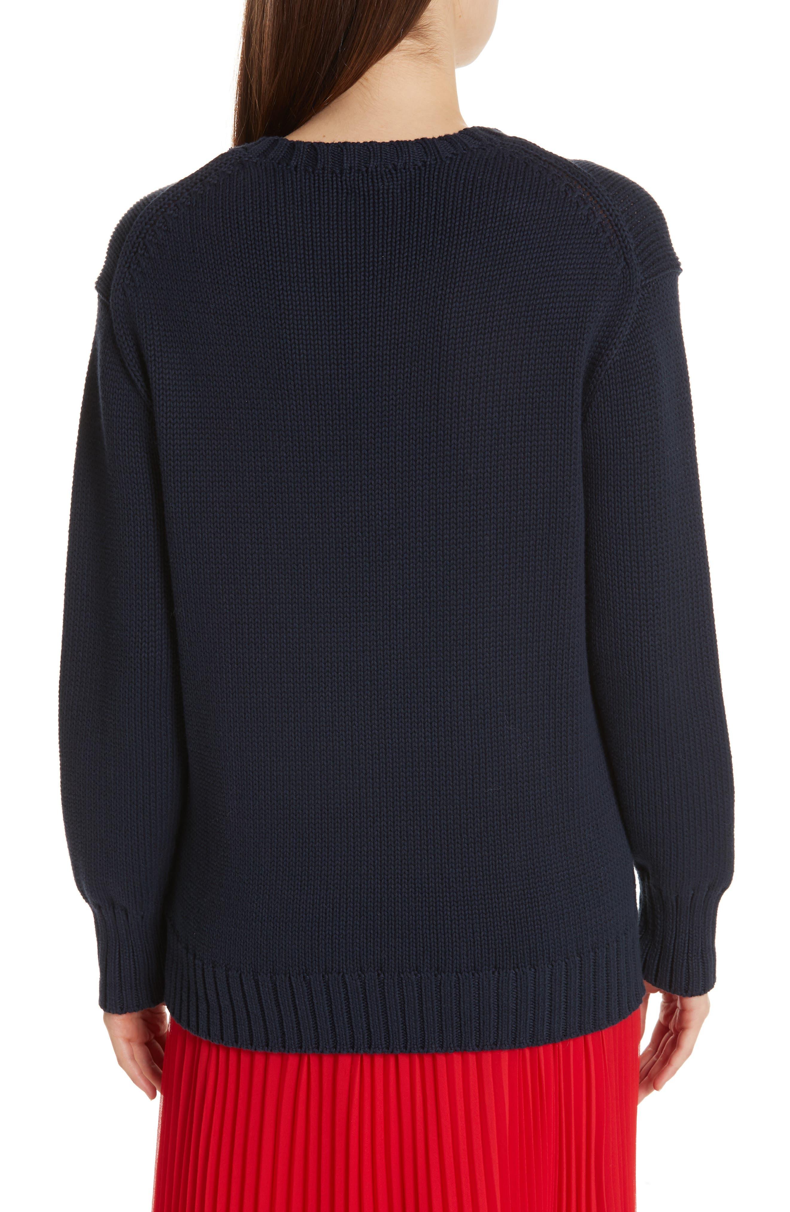 Bear Sweater,                             Alternate thumbnail 2, color,                             NAVY MULTI