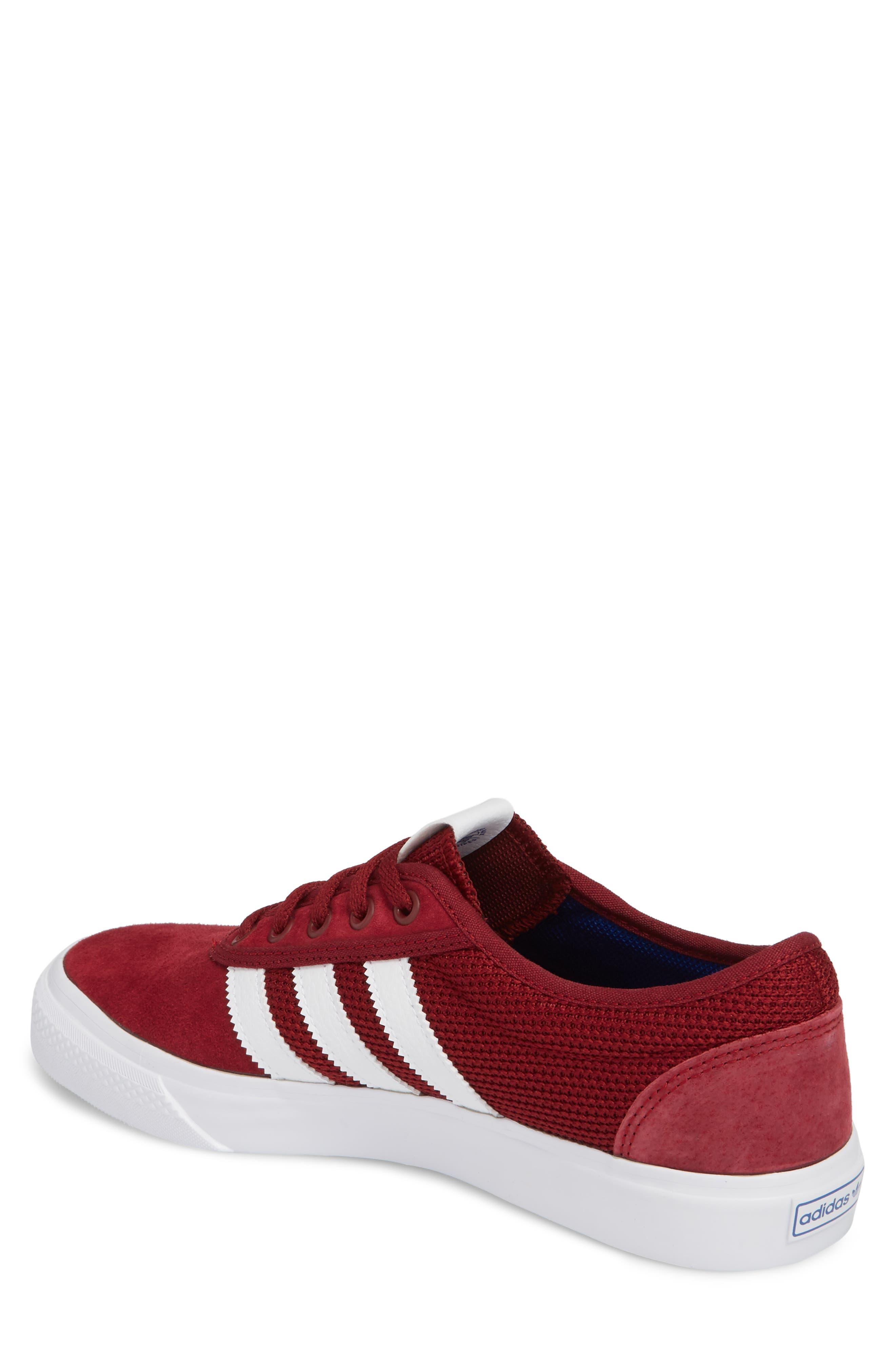 adi-Ease Sneaker,                             Alternate thumbnail 2, color,                             BURGUNDY/ WHITE / ROYAL
