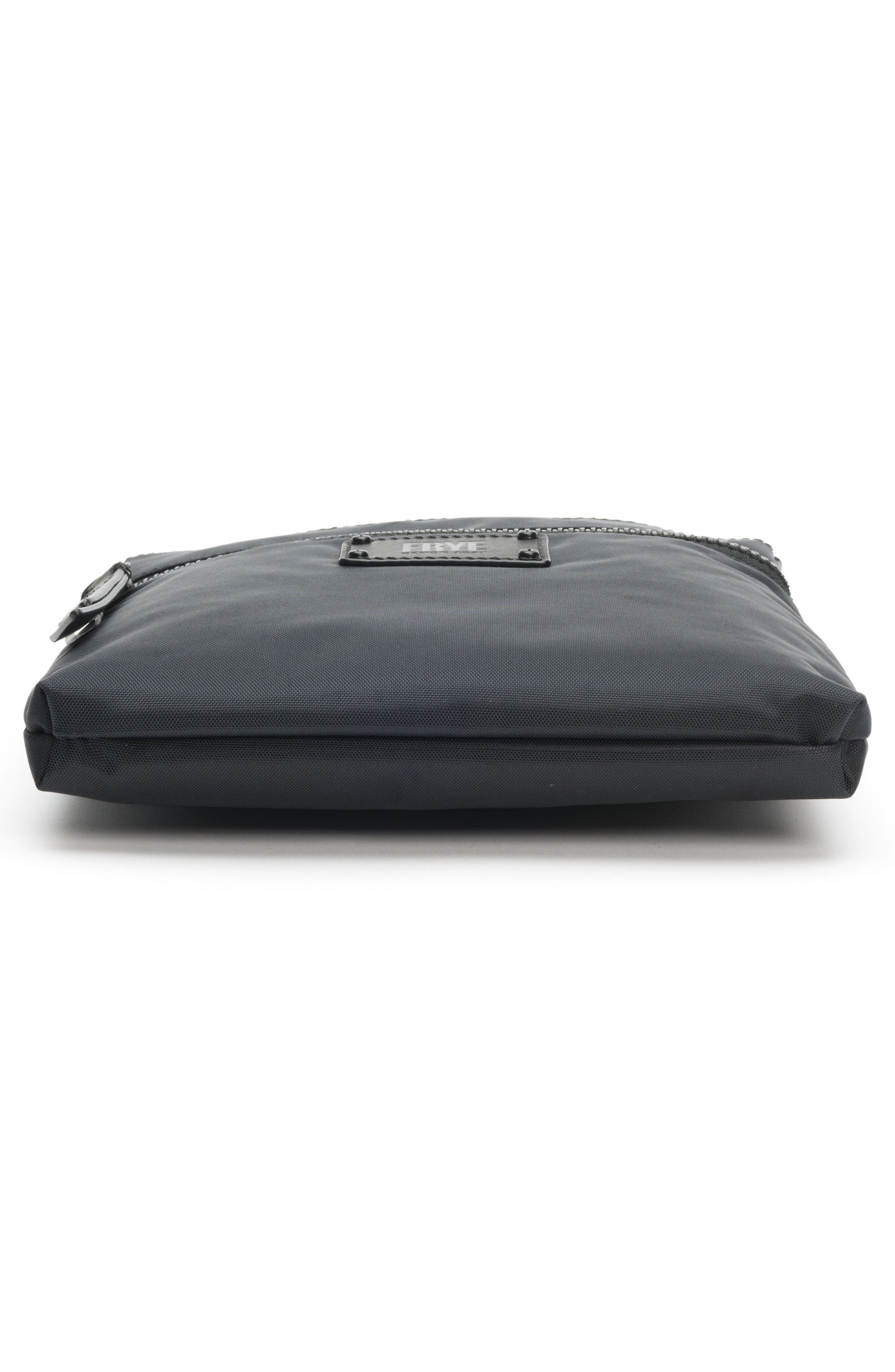 Ivy Nylon Crossbody Bag,                             Alternate thumbnail 6, color,                             MATTE BLACK