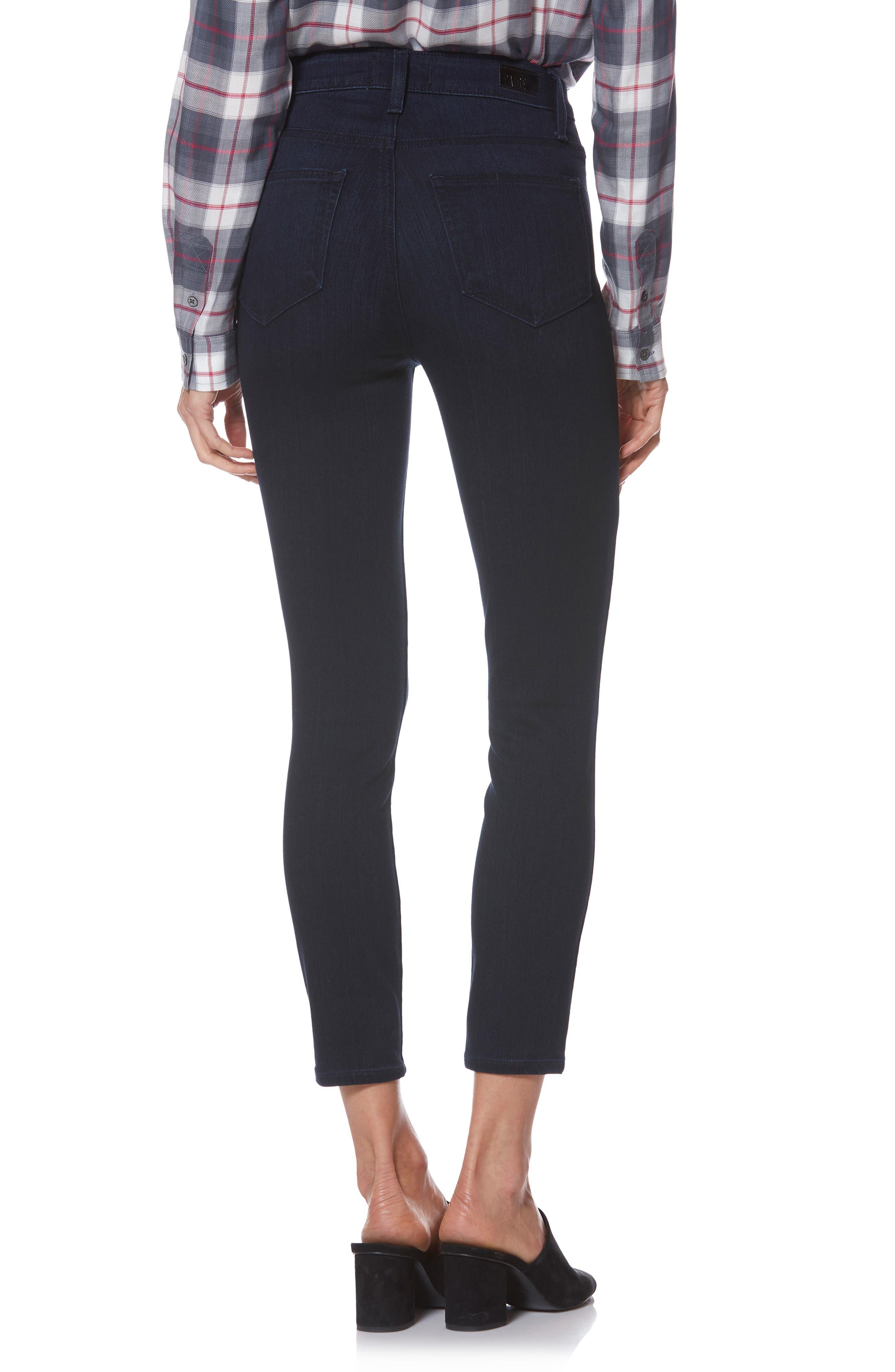 Transcend - Margot High Waist Crop Skinny Jeans,                             Alternate thumbnail 2, color,                             LANA
