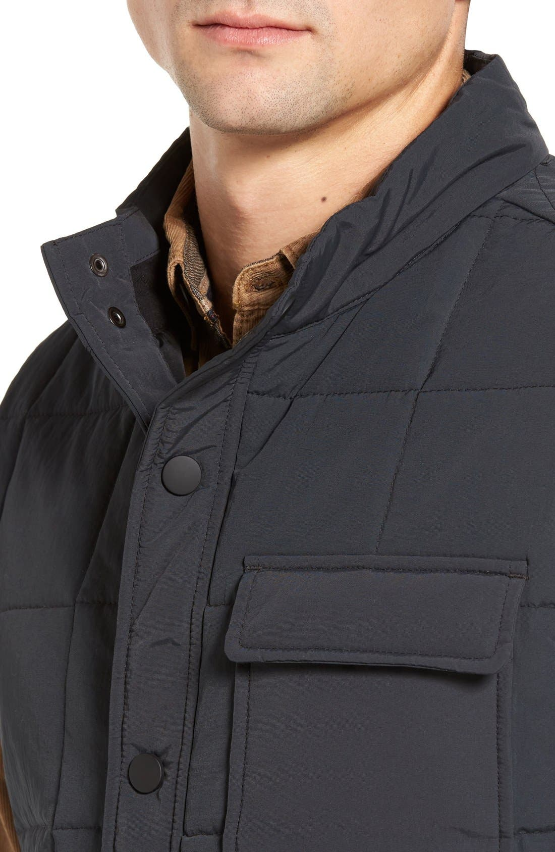 Quilted Vest,                             Alternate thumbnail 4, color,                             001