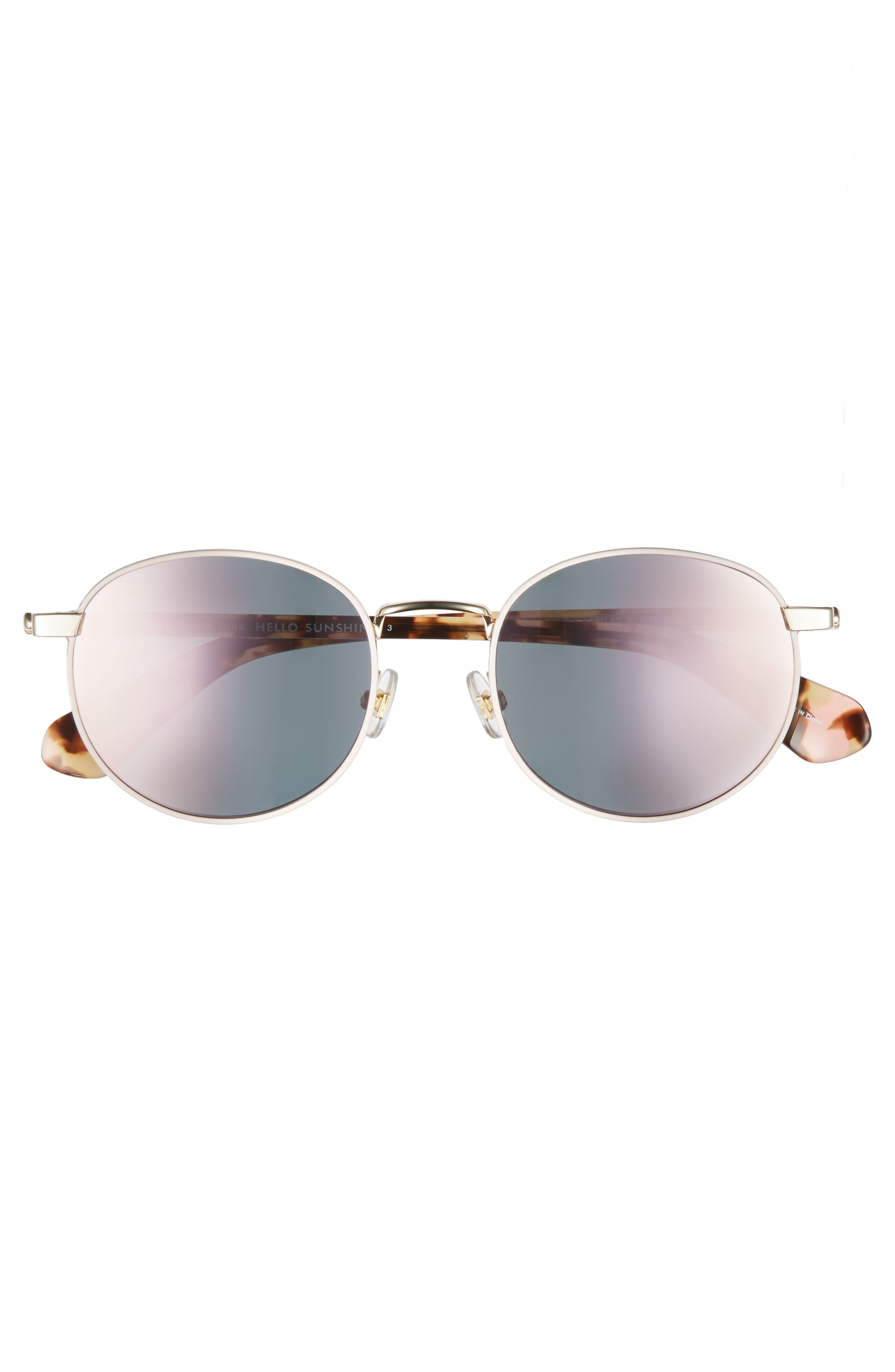 adelais 50mm round sunglasses,                             Alternate thumbnail 12, color,