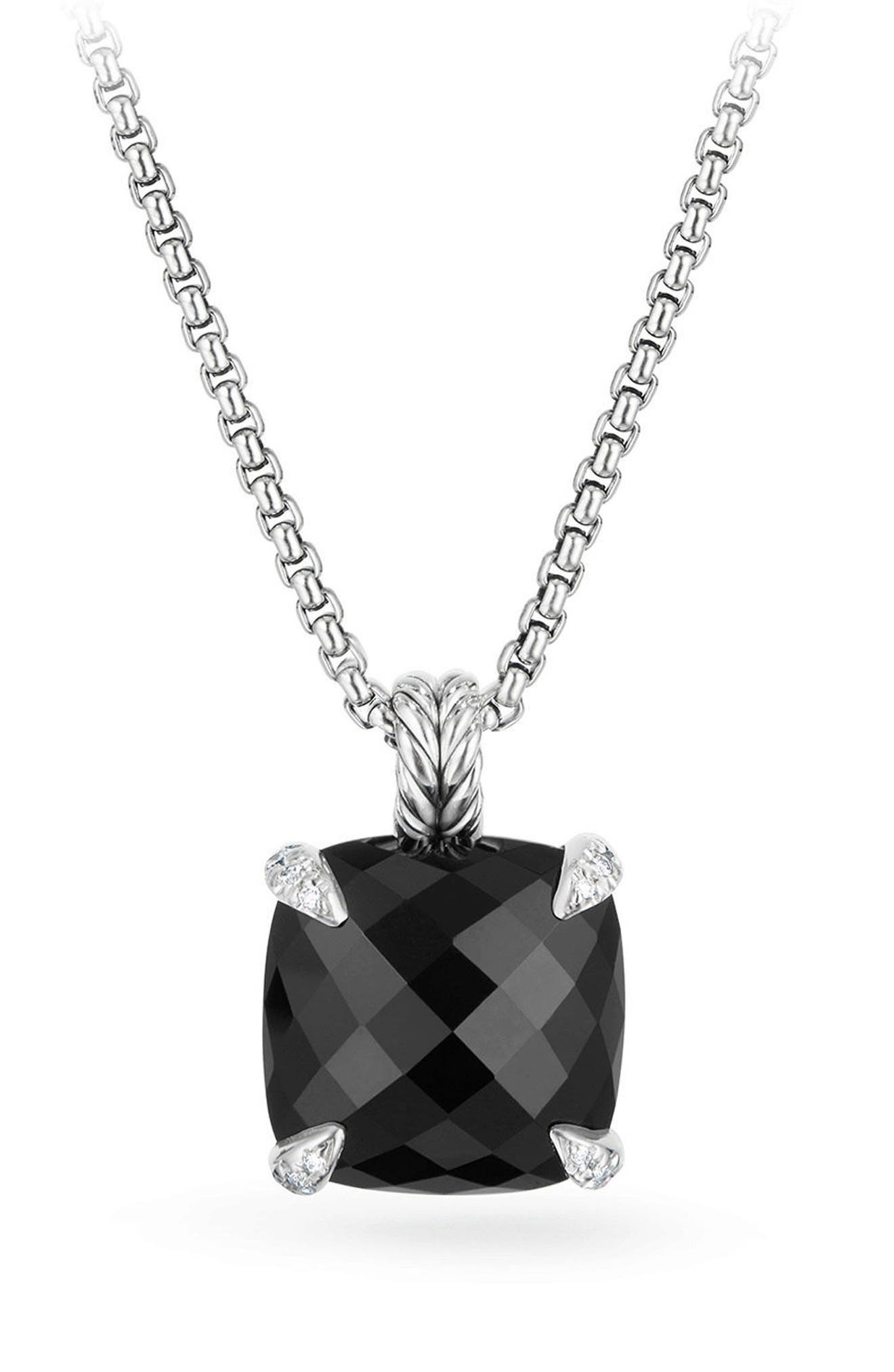 DAVID YURMAN Châtelaine Pendant Necklace with Diamonds, Main, color, BLACK ONYX?