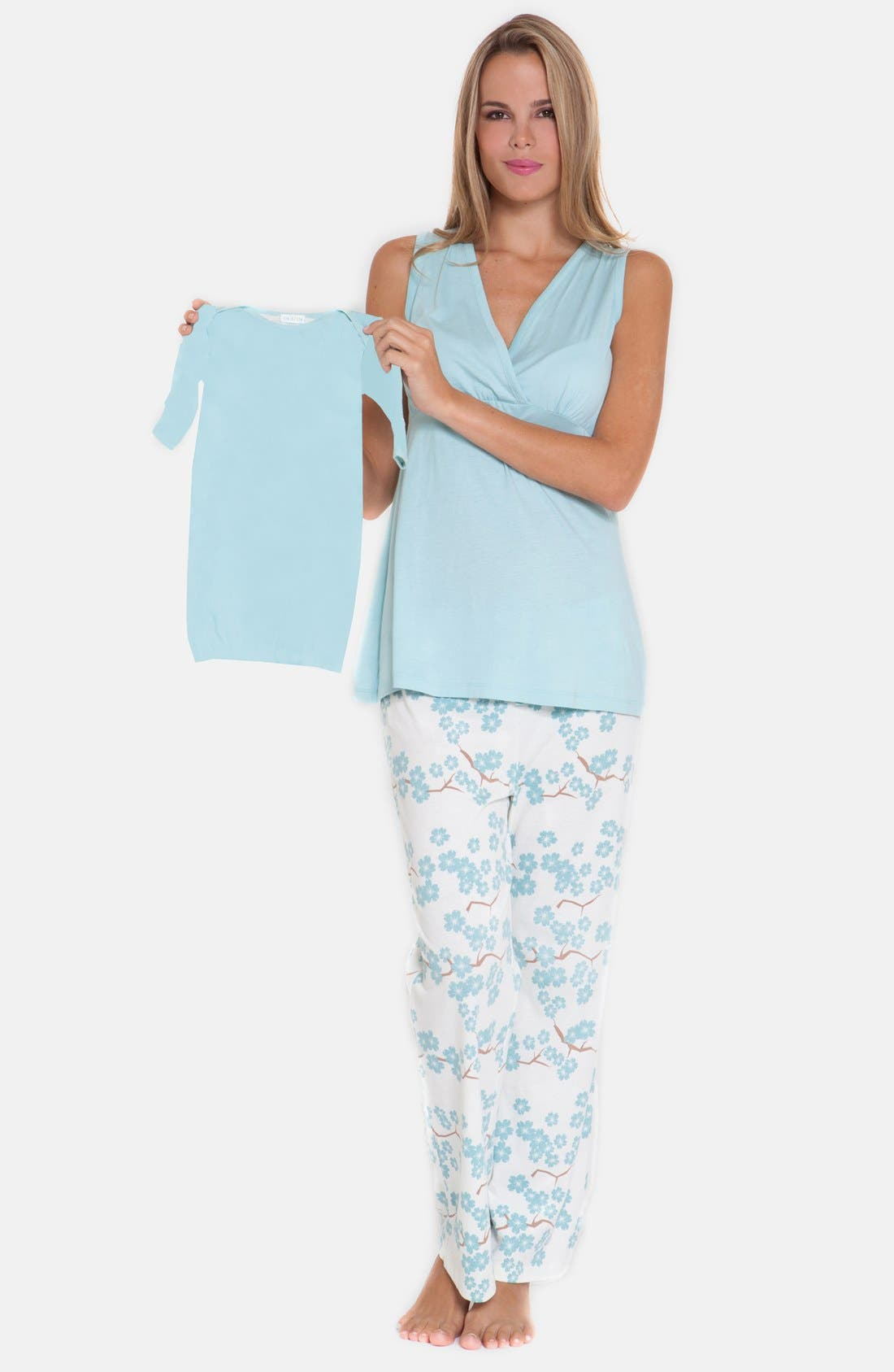 4-Piece Maternity Sleepwear Gift Set,                             Main thumbnail 2, color,