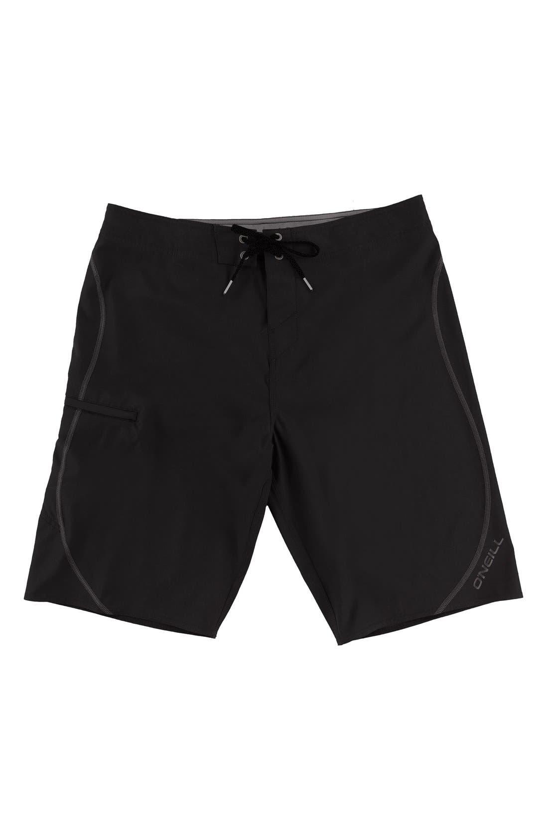 Hyperfreak S-Seam Stretch Board Shorts,                             Main thumbnail 1, color,                             001