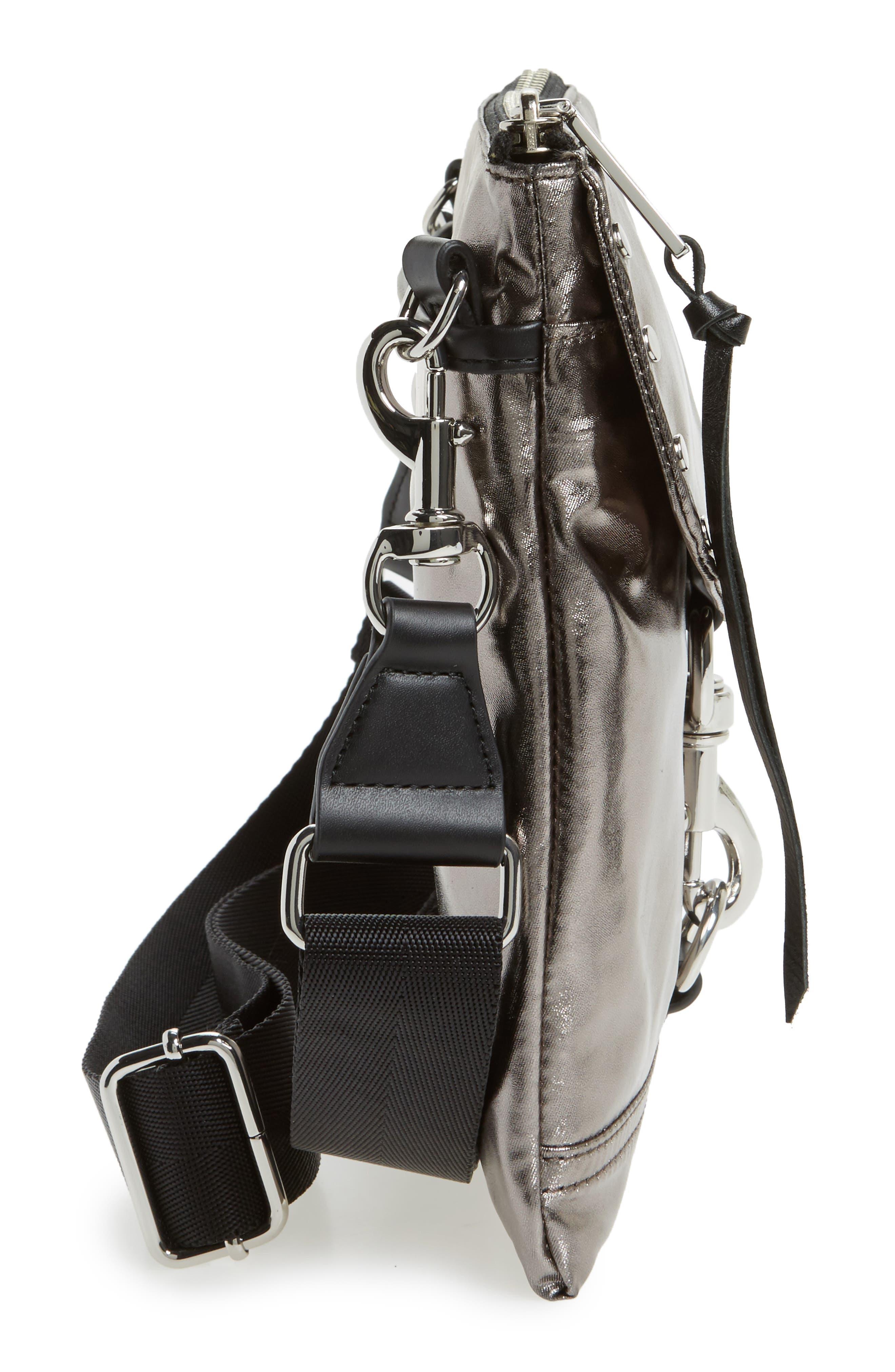 Nylon Flap Crossbody Bag,                             Alternate thumbnail 27, color,