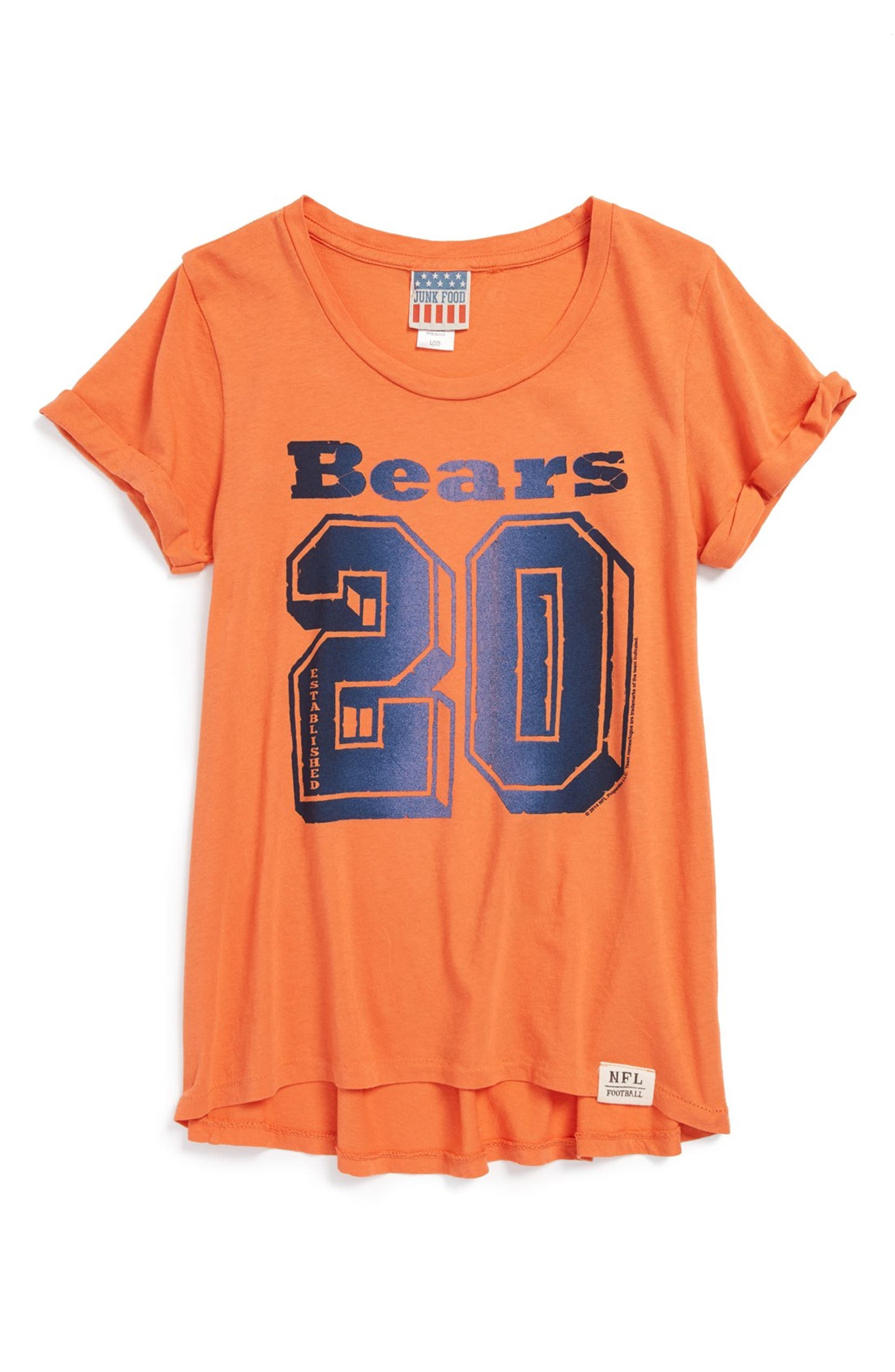 Junk Food  Chicago Bears - Cheerleader  Graphic T-Shirt (Little Girls   Big  Girls)  76f2a5420