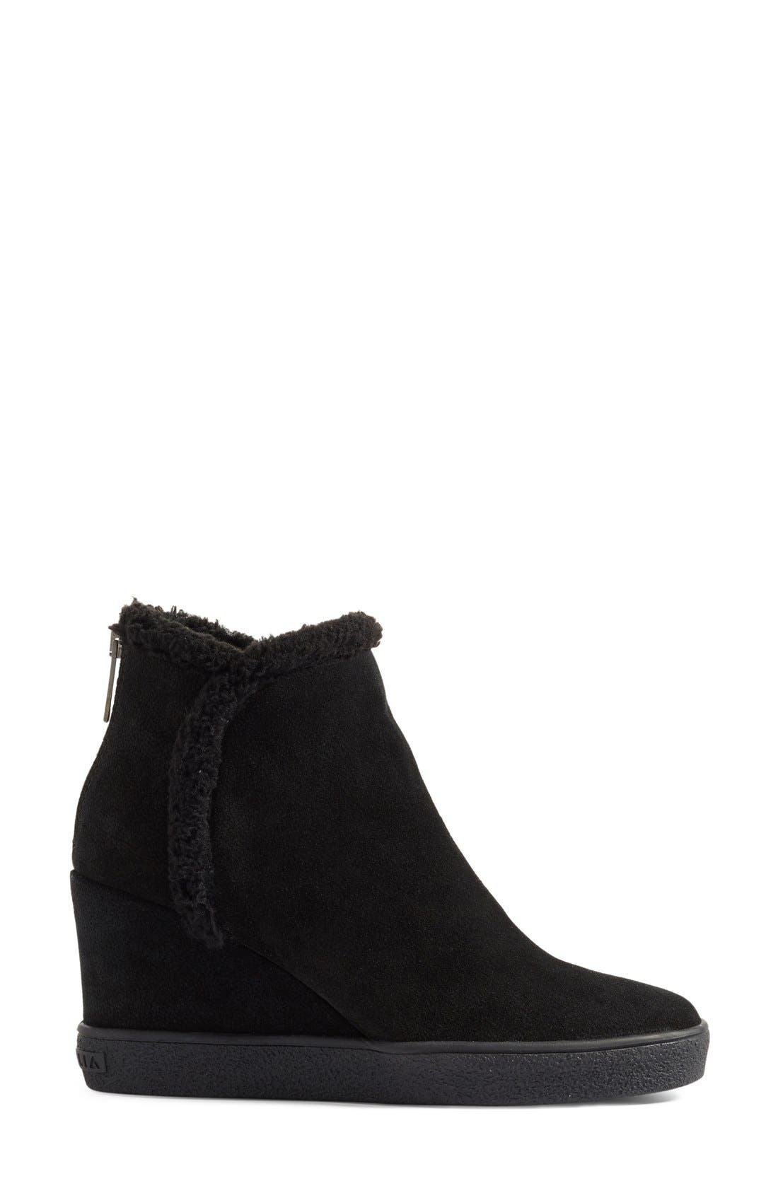 Charlie Weatherproof Hidden Wedge Bootie,                             Alternate thumbnail 4, color,                             001