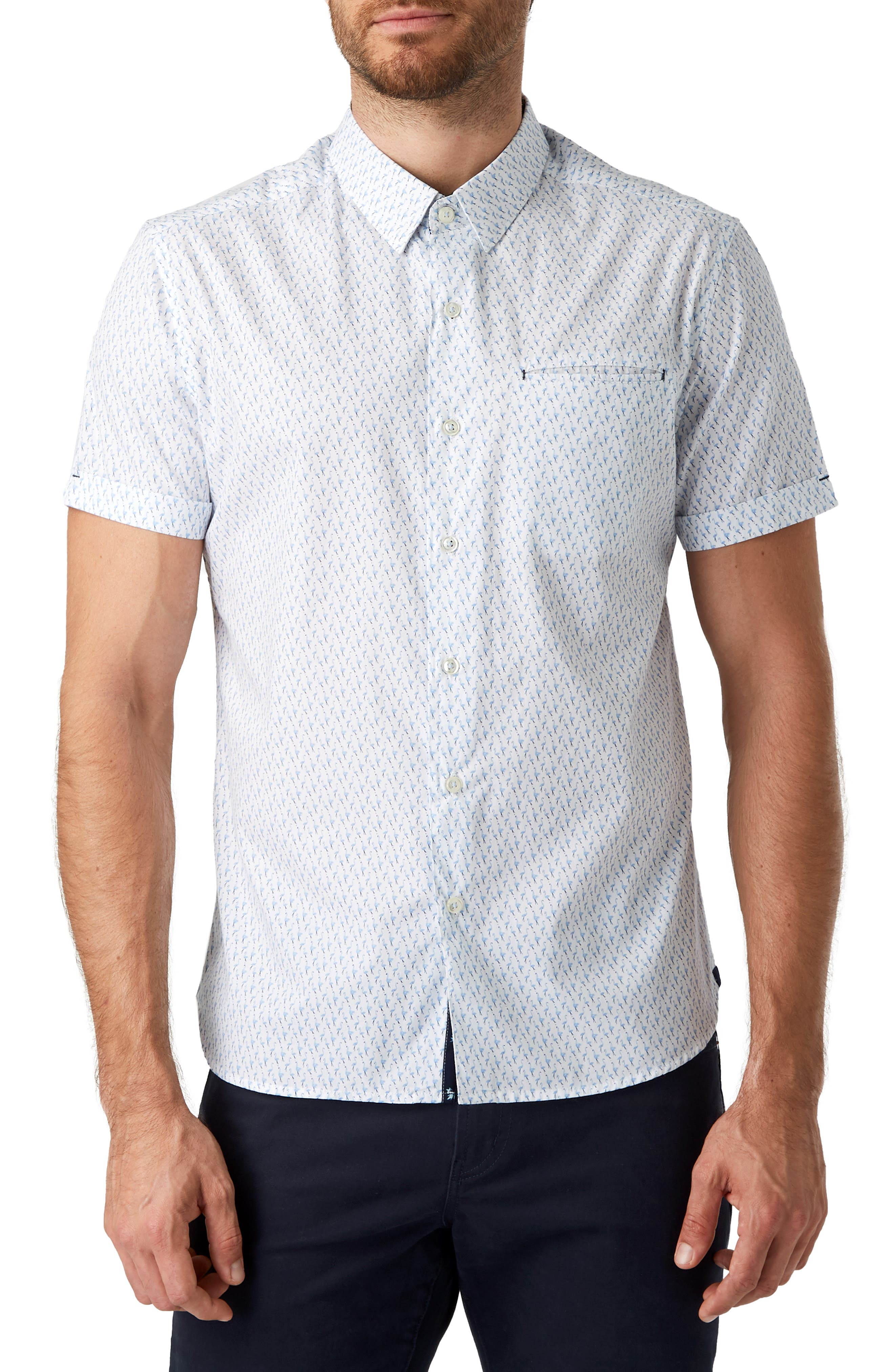 South Of Sunshine Slim Fit Sport Shirt by 7 Diamonds