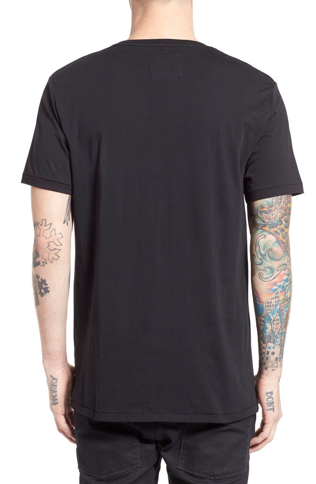 'B. Cause' Crewneck T-Shirt,                             Alternate thumbnail 5, color,                             001