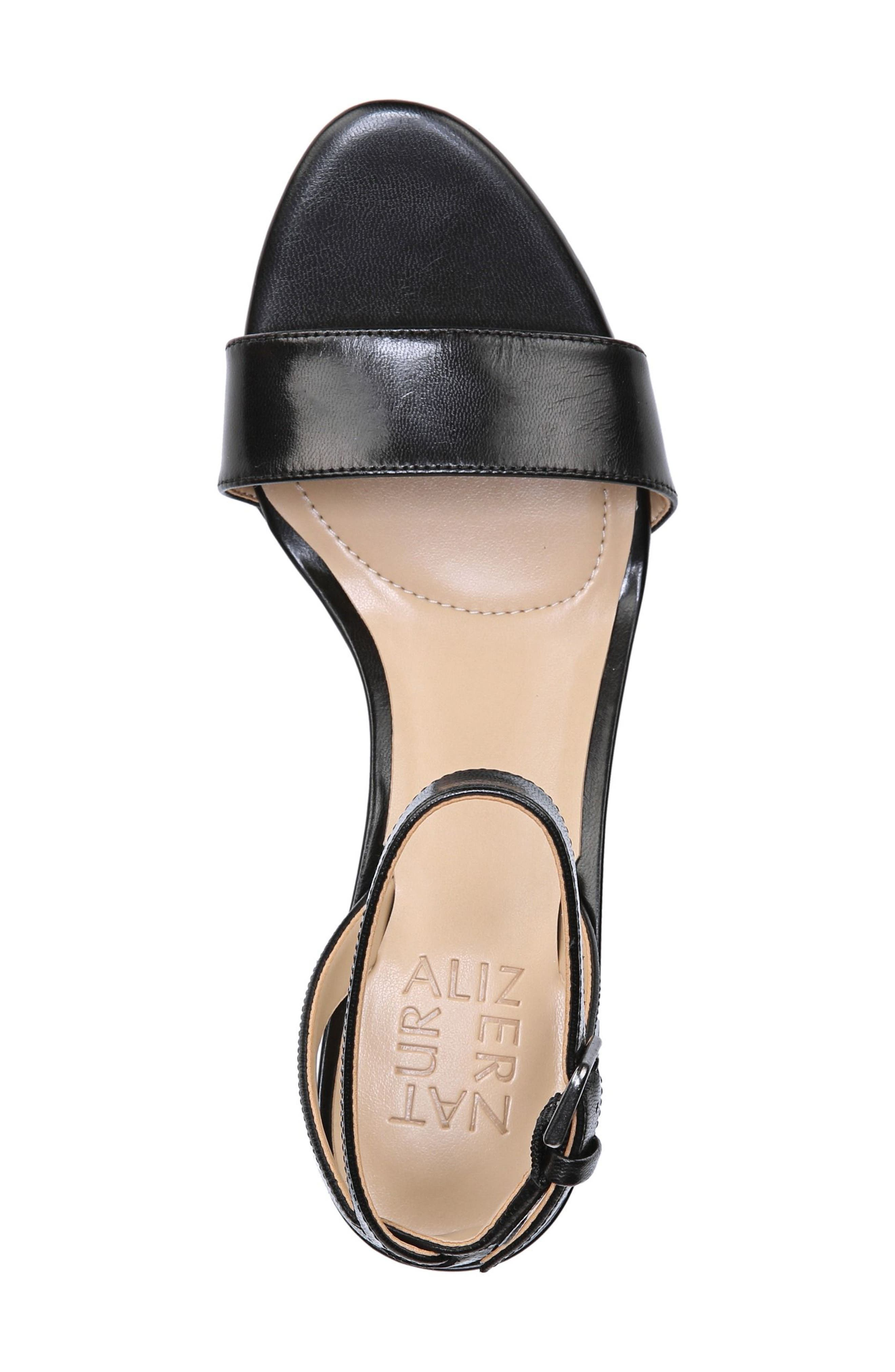 Tinda Sandal,                             Alternate thumbnail 5, color,                             BLACK LEATHER