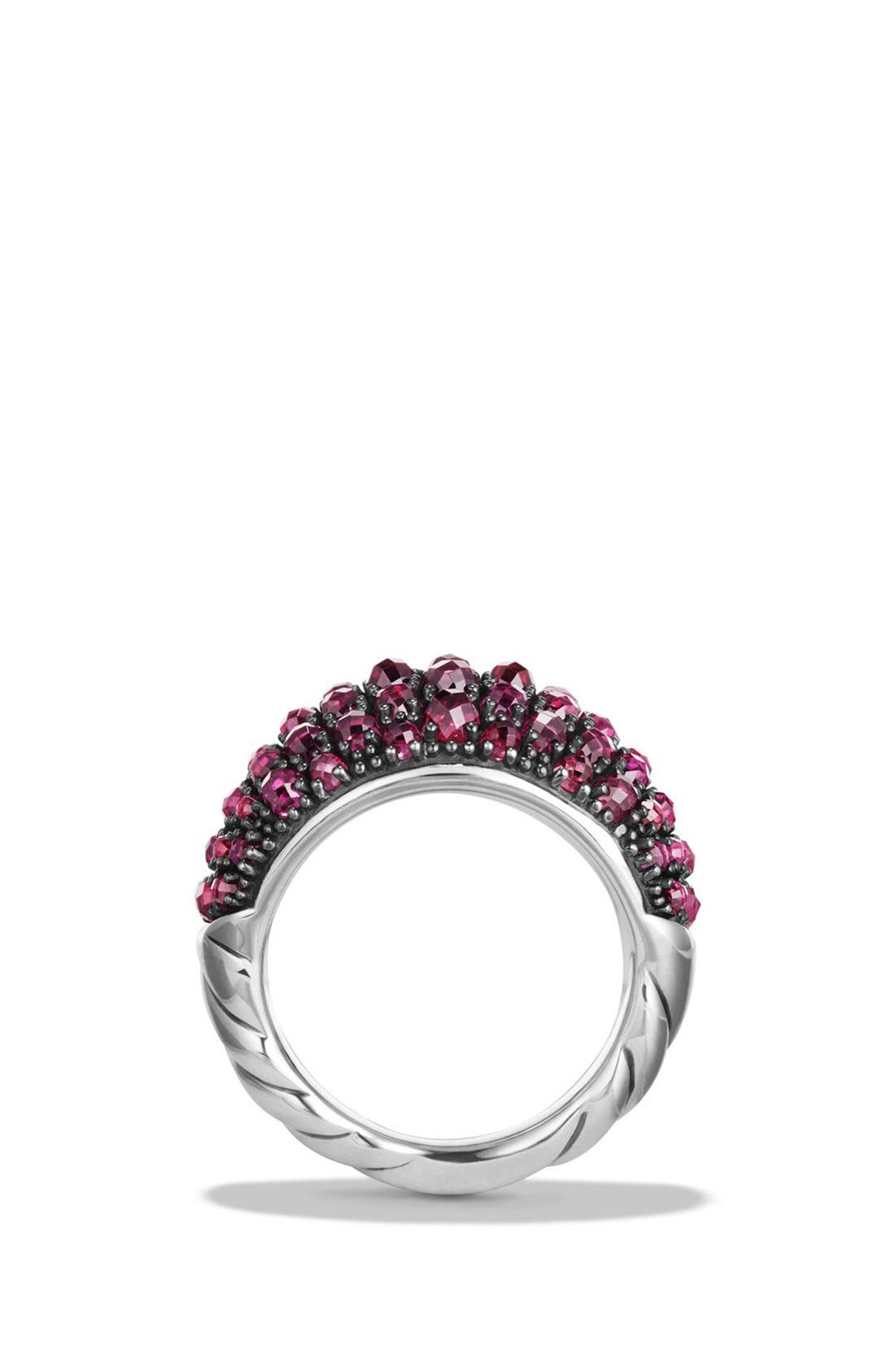 Cable Berries Dome Ring,                             Alternate thumbnail 2, color,                             RHODALITE