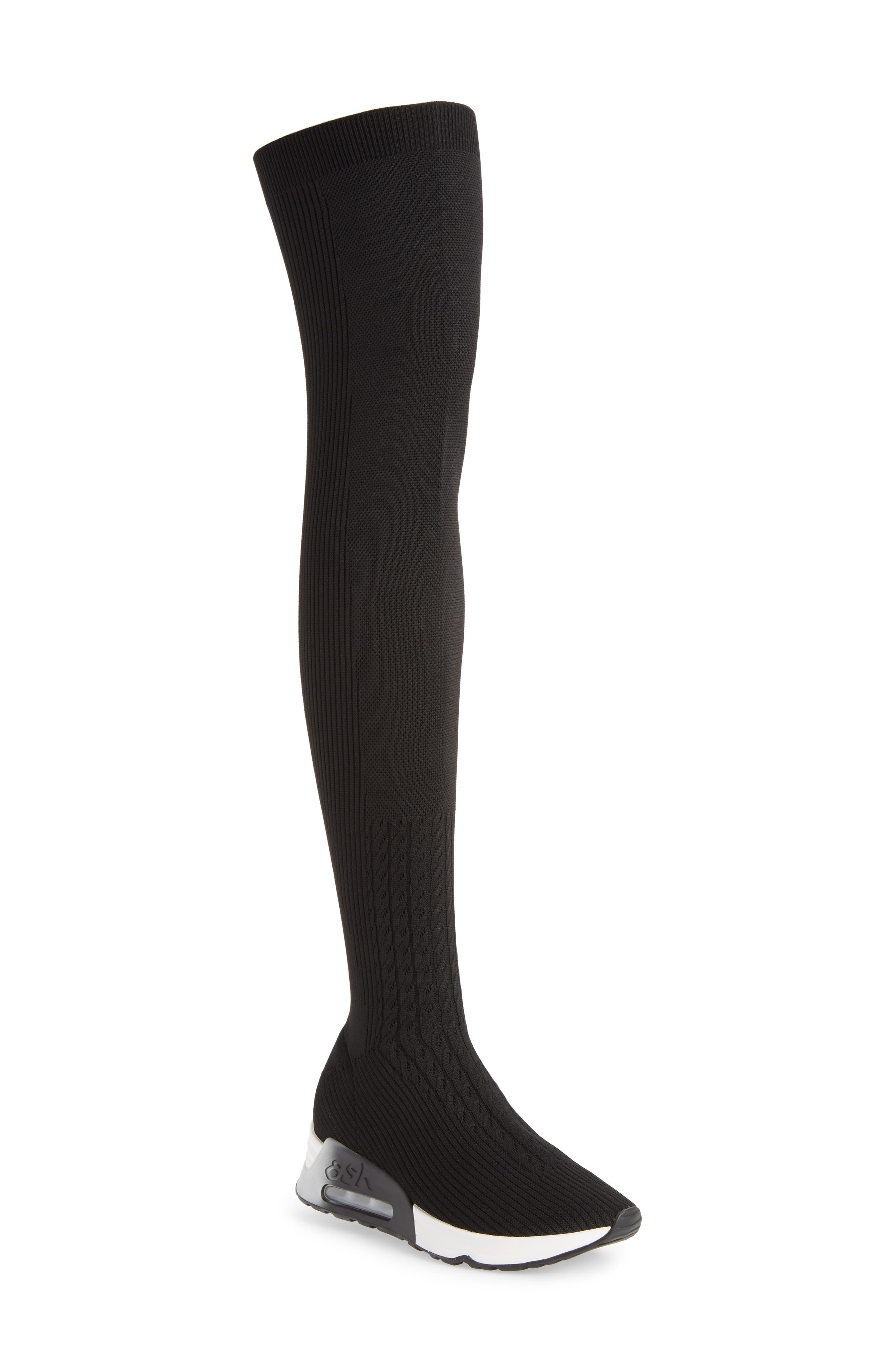 Lola Over the Knee Sneaker Boot,                             Main thumbnail 1, color,                             002