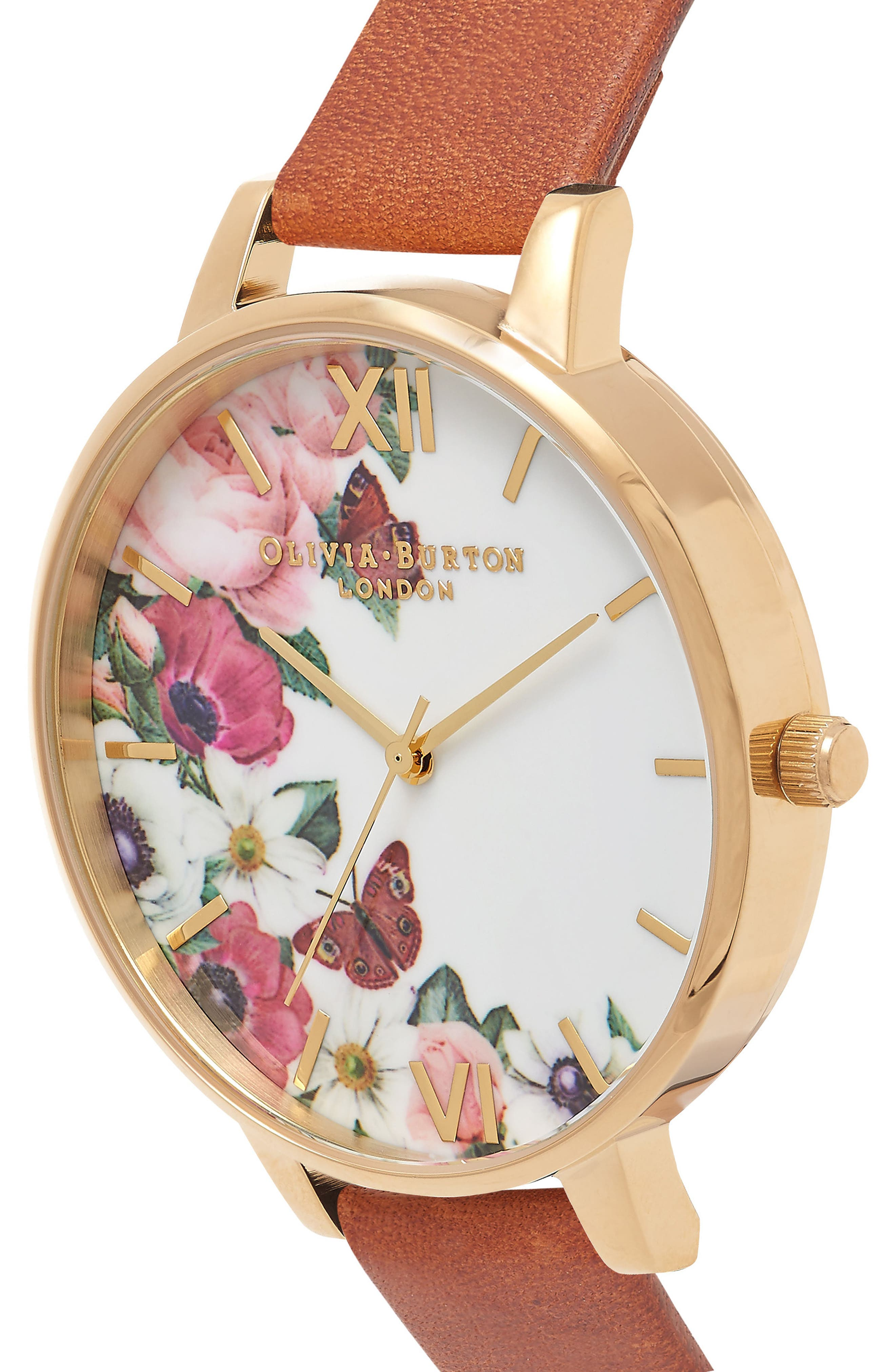 English Garden Leather Strap Watch, 38mm,                             Alternate thumbnail 3, color,                             200