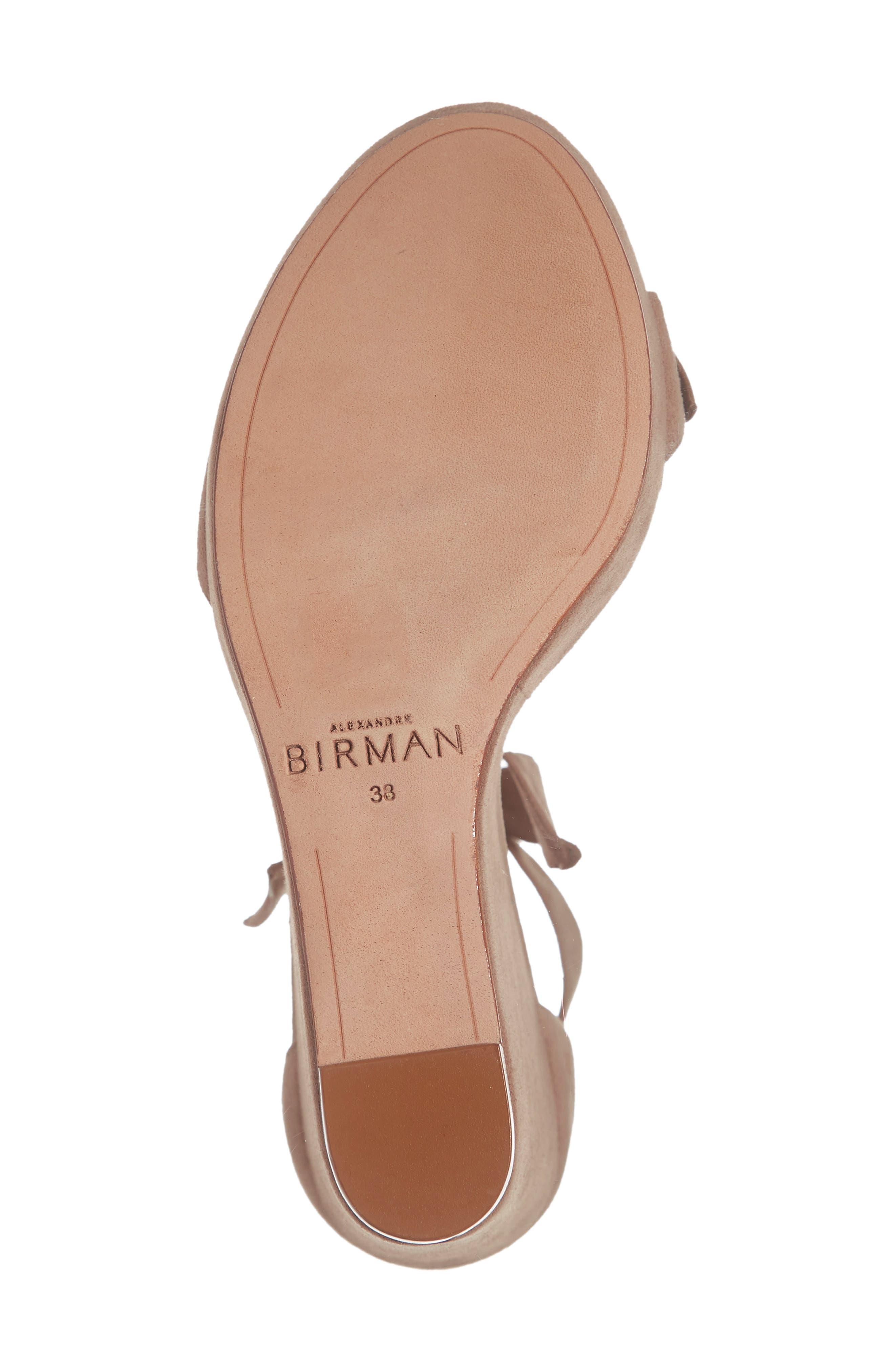 Clarita Platform Wedge Sandal,                             Alternate thumbnail 6, color,                             CAMEO SUEDE