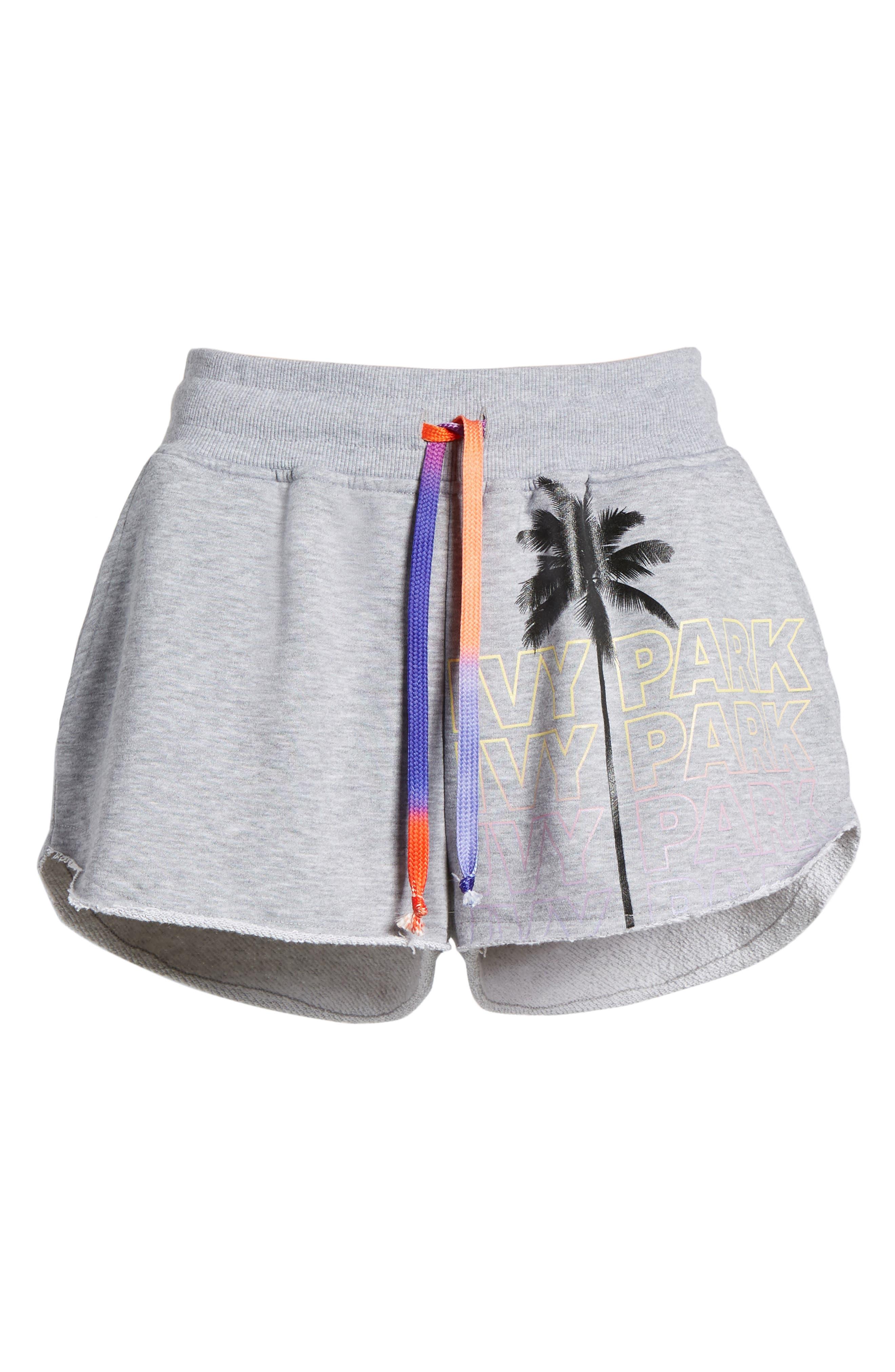 Festival Palm Print Shorts,                             Alternate thumbnail 7, color,                             050