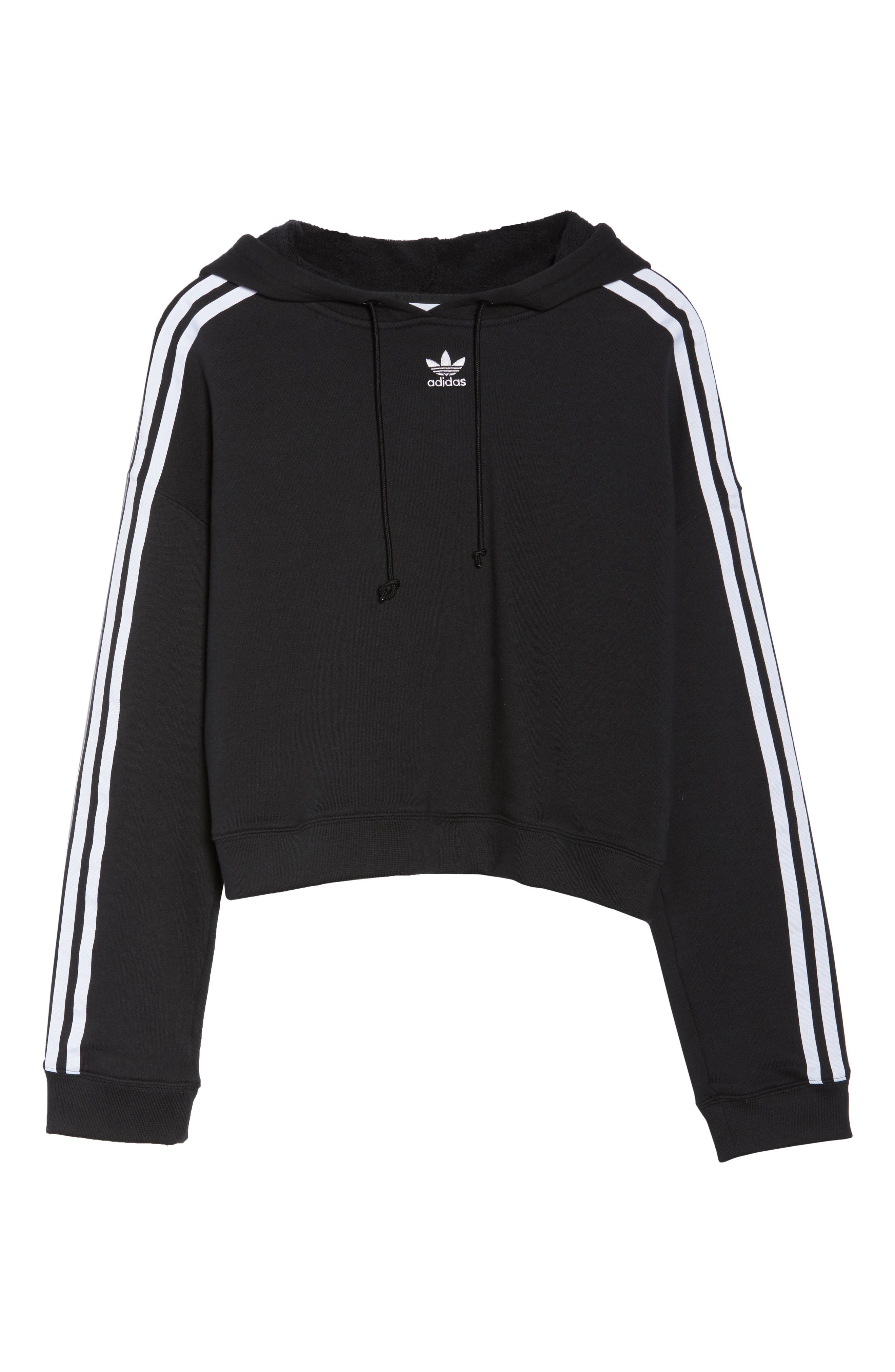 Cropped Hoodie,                             Alternate thumbnail 7, color,                             001
