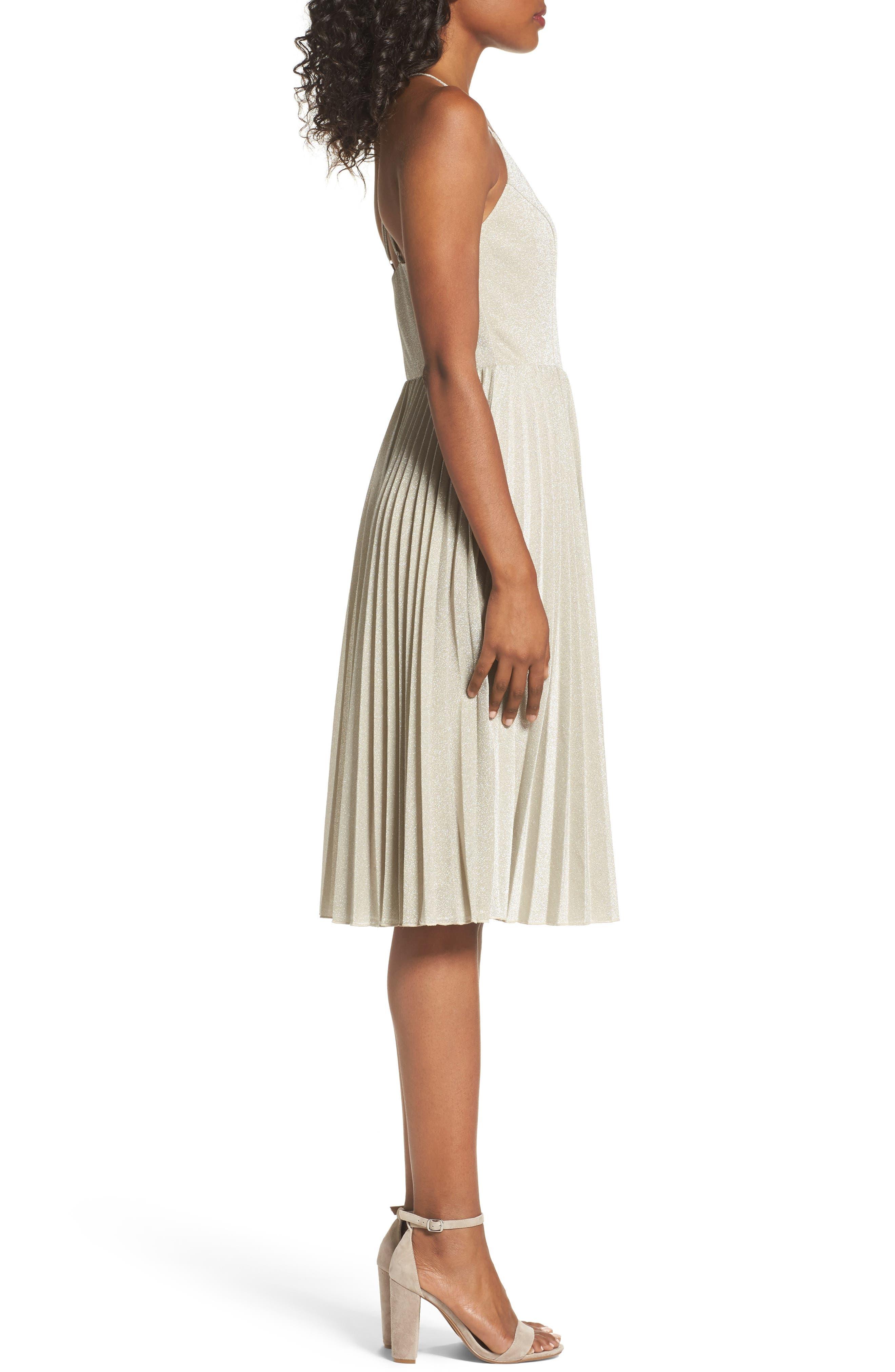 Jolene Fit & Flare Dress,                             Alternate thumbnail 3, color,                             024