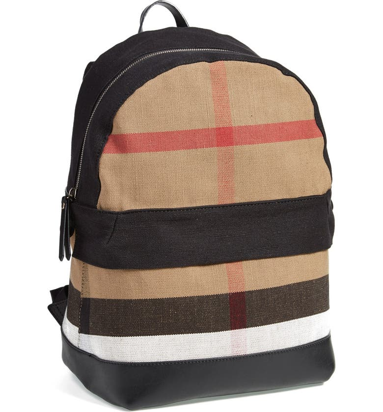 bcfb044ee991 Burberry Check Print Canvas Backpack