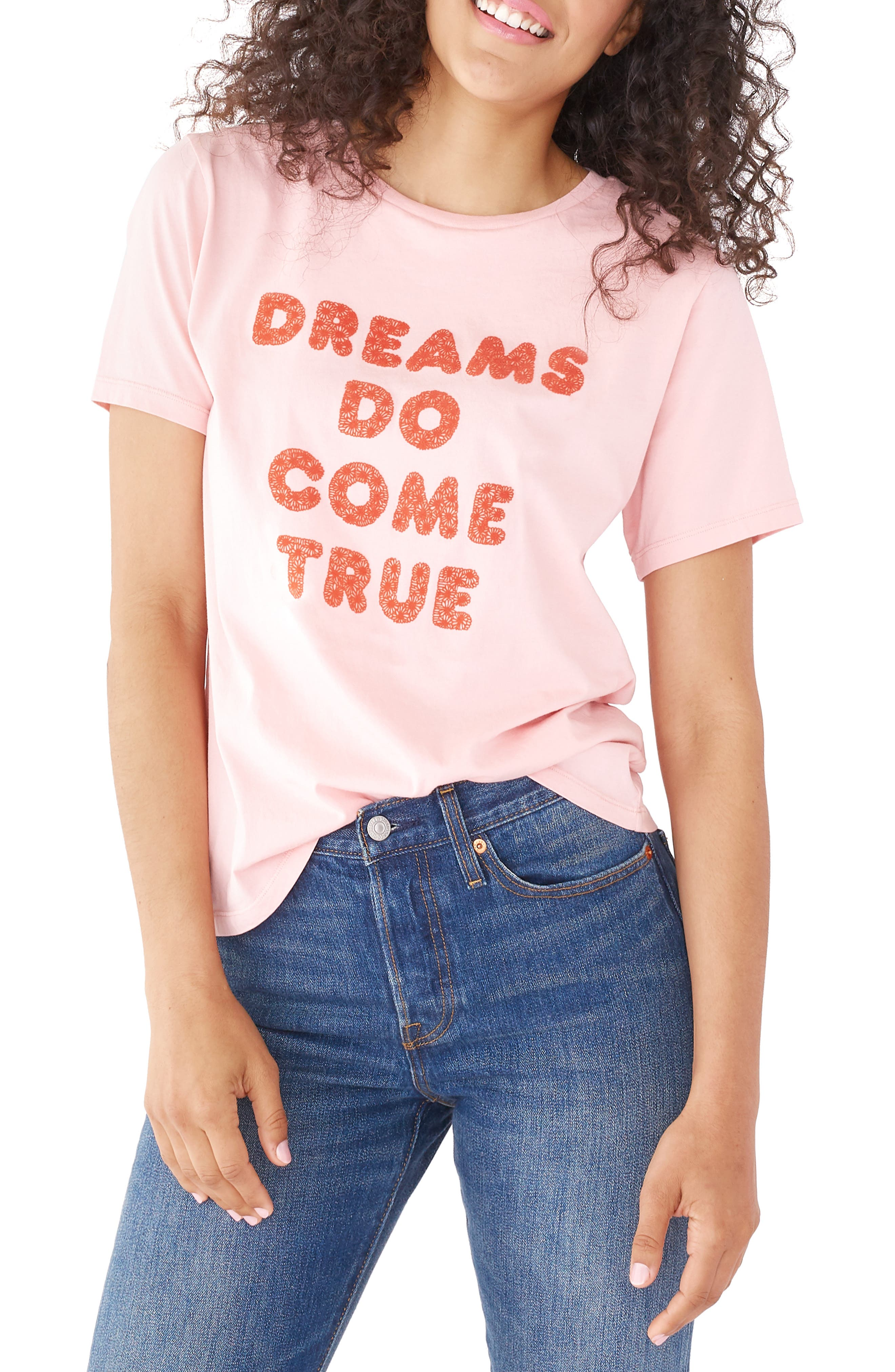 BAN.DO Dreams Come True Classic Tee, Main, color, PINK