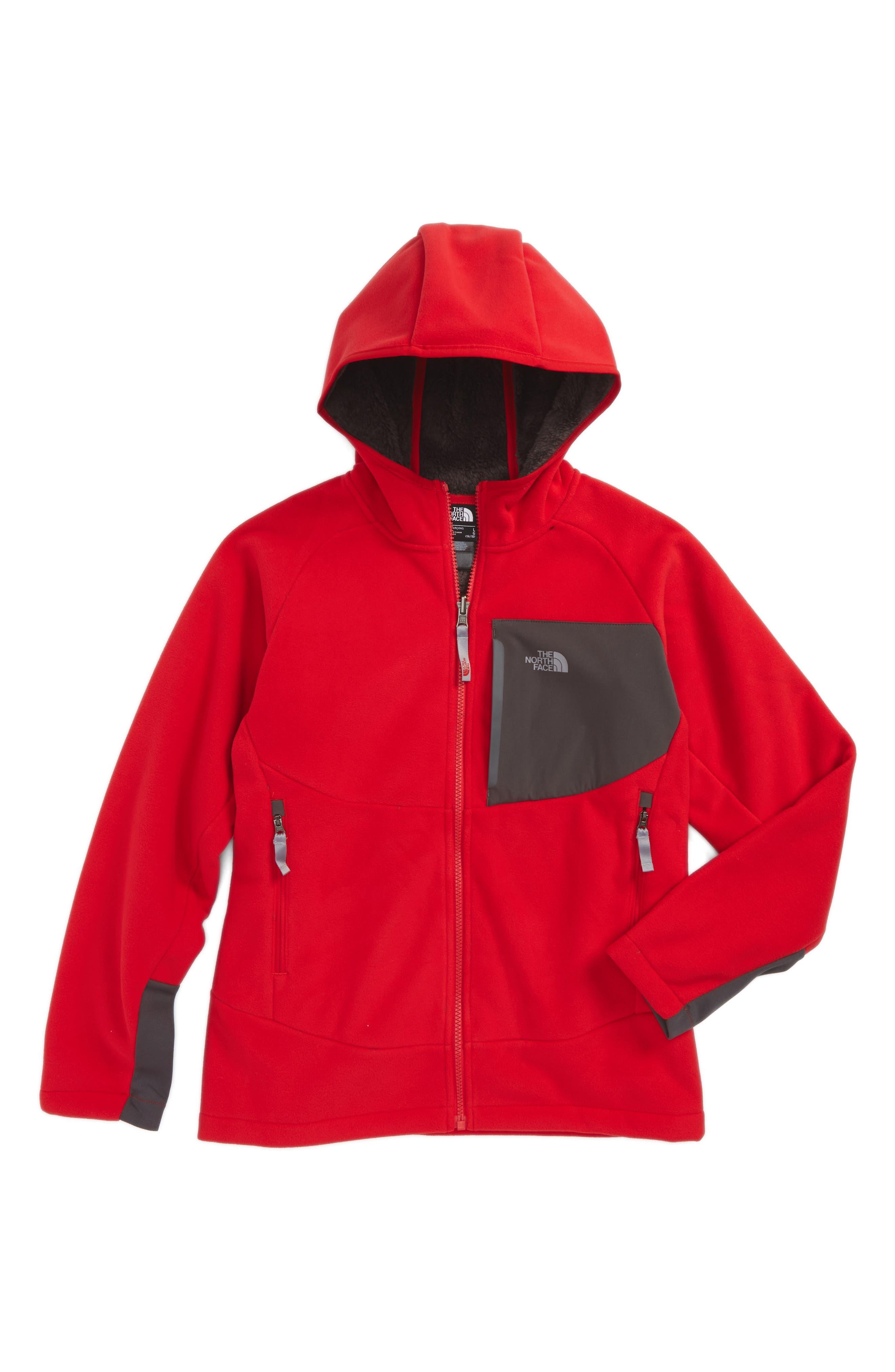 'Chimborazo' Hoodie,                         Main,                         color, TNF RED/ GRAPHITE GREY