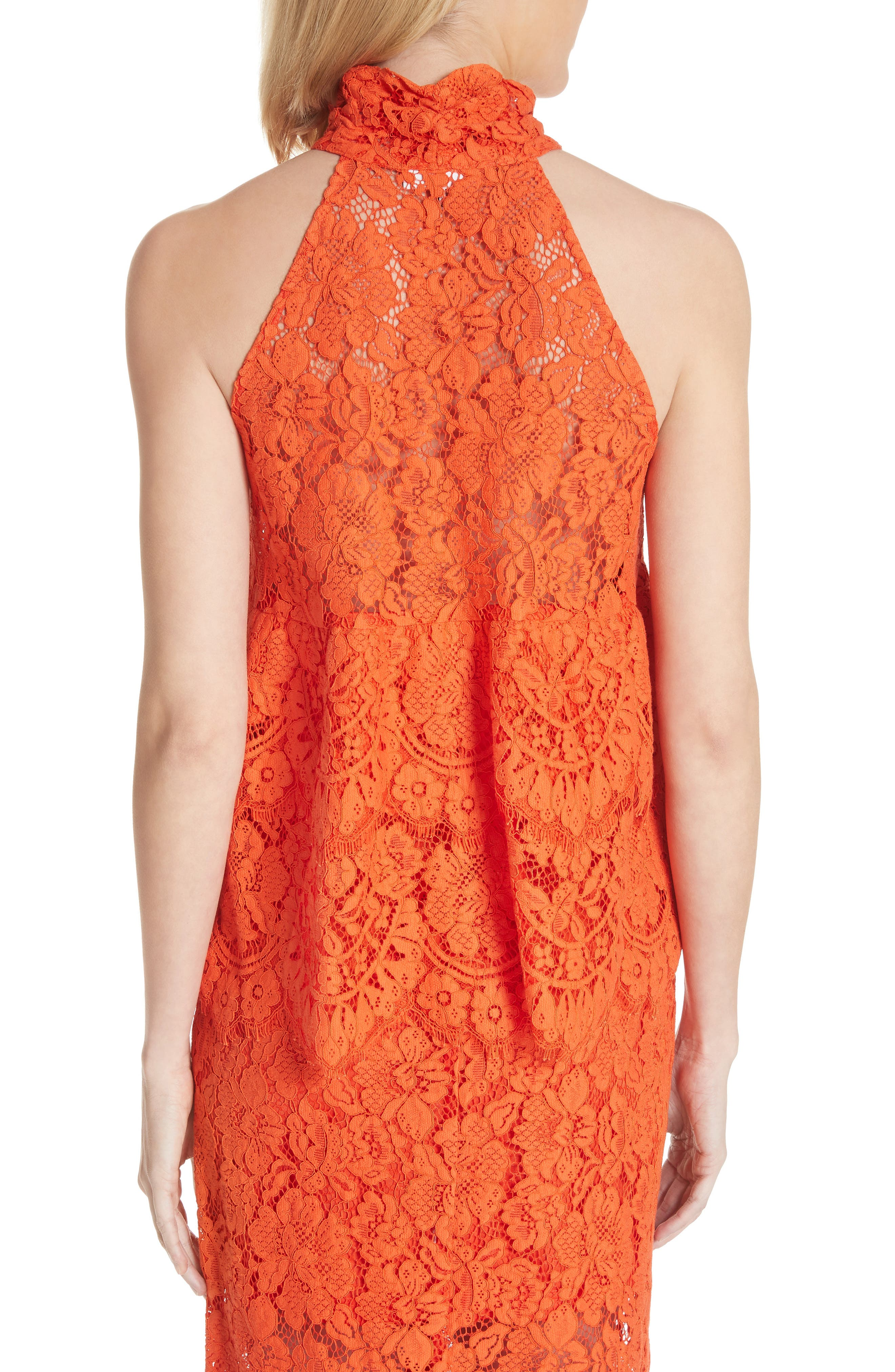 Jerome Lace Top,                             Alternate thumbnail 2, color,                             BIG APPLE RED