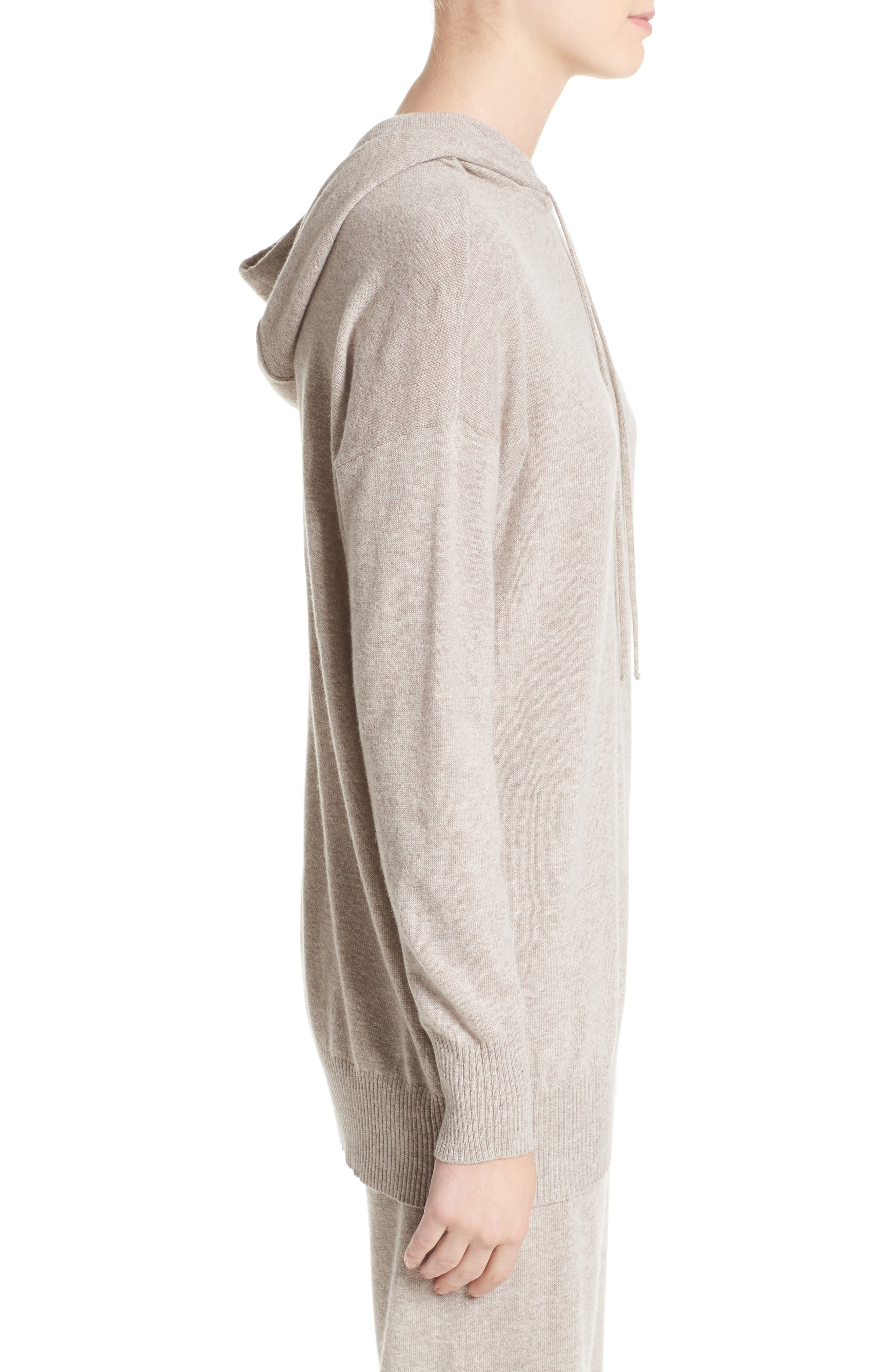 Nitra Wool & Cashmere Hooded Sweater,                             Alternate thumbnail 3, color,