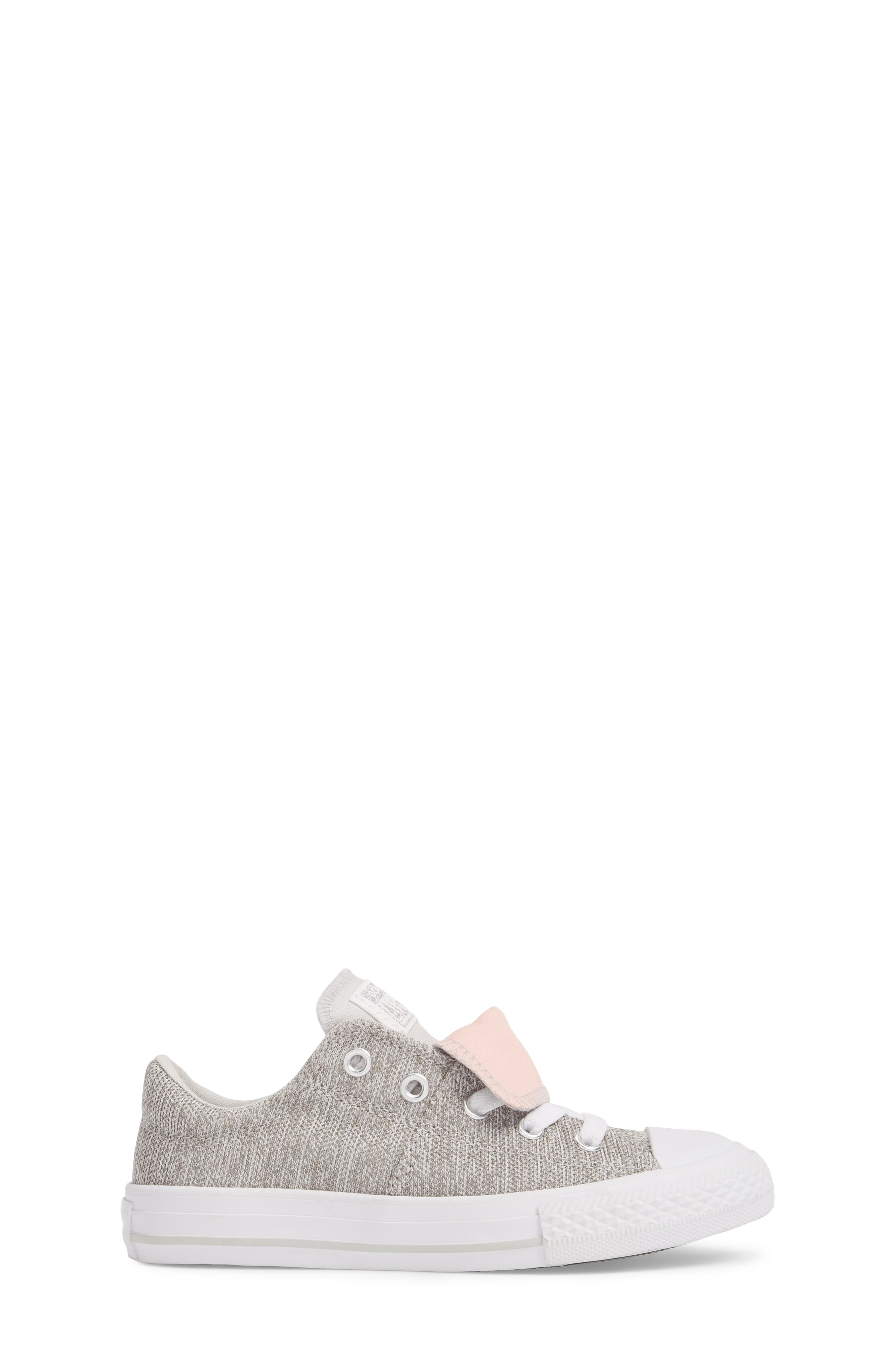 Chuck Taylor<sup>®</sup> All Star<sup>®</sup> Maddie Double Tongue Sneaker,                             Alternate thumbnail 3, color,                             LIGHT GREY