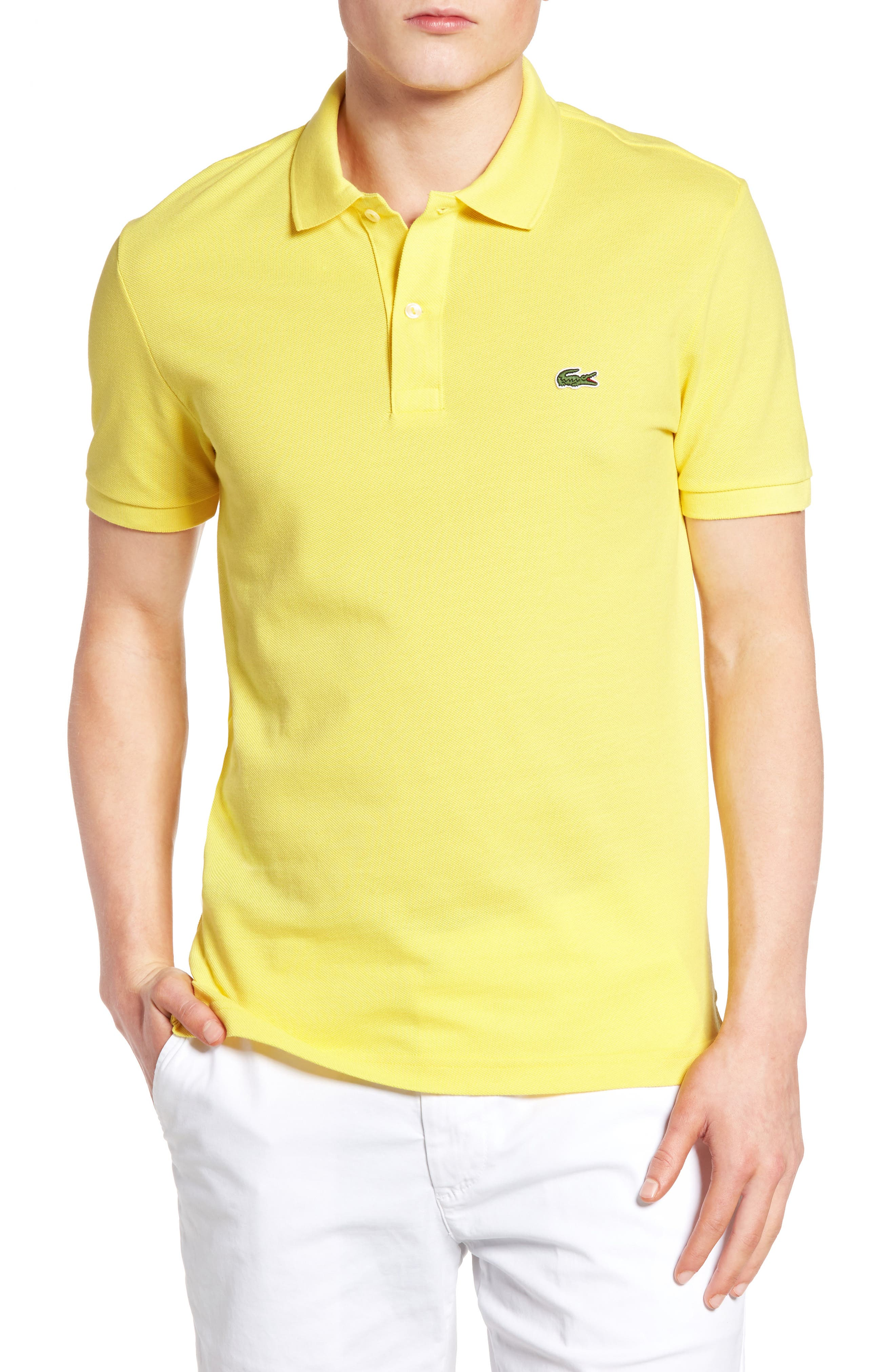 Slim Fit Piqué Polo,                             Main thumbnail 12, color,