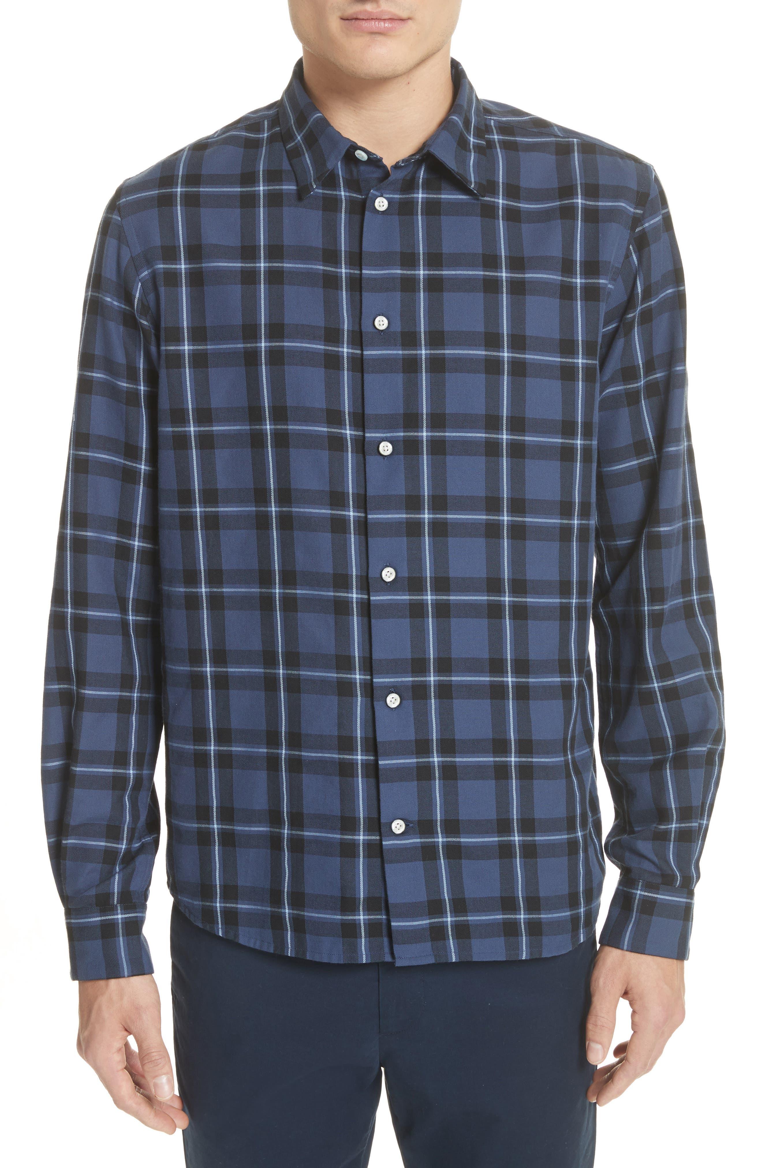 Hans Check Woven Shirt,                         Main,                         color, 410