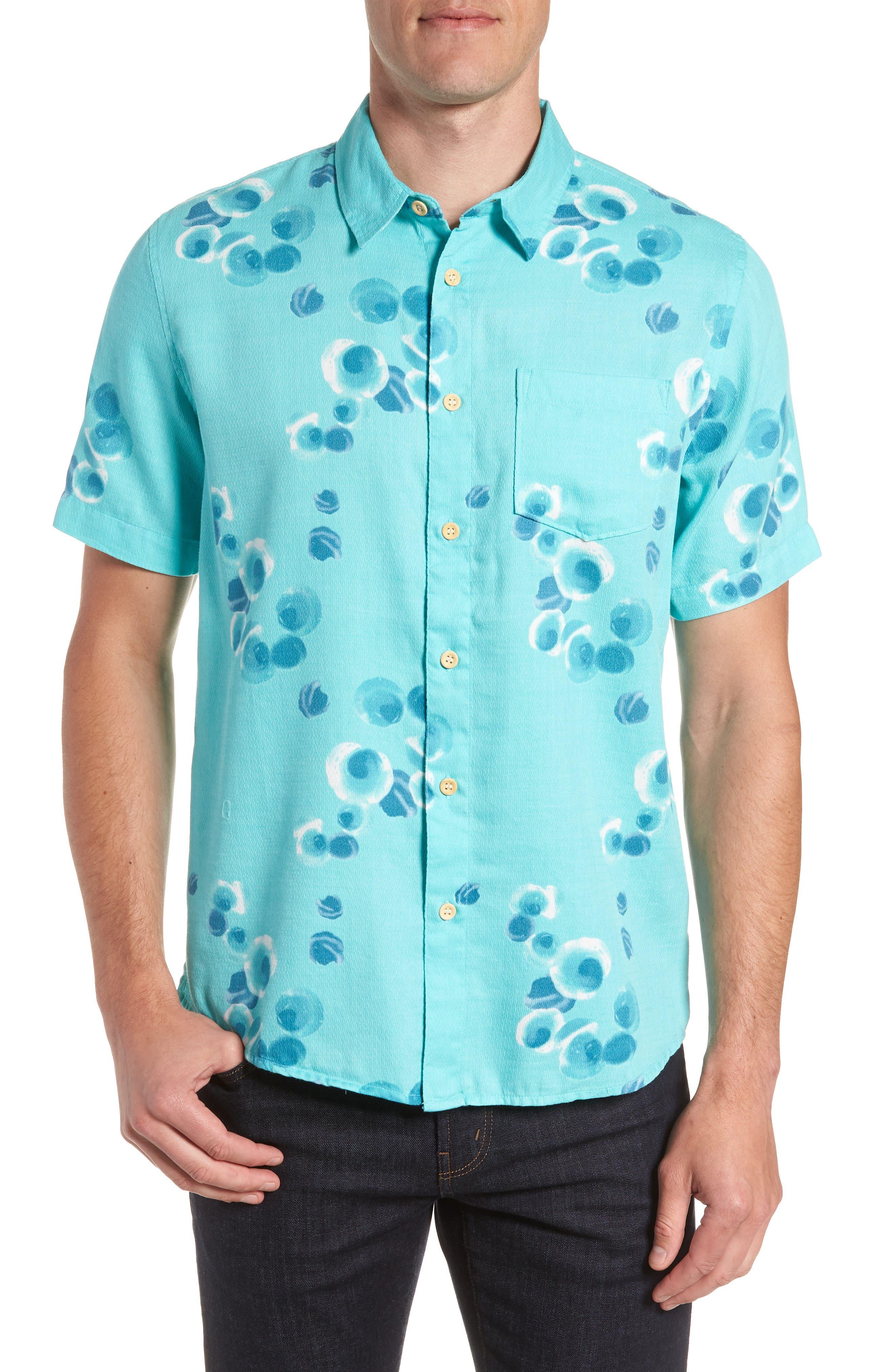 Plumes Dune Regular Fit Sport Shirt,                         Main,                         color, BLUE RADIANCE