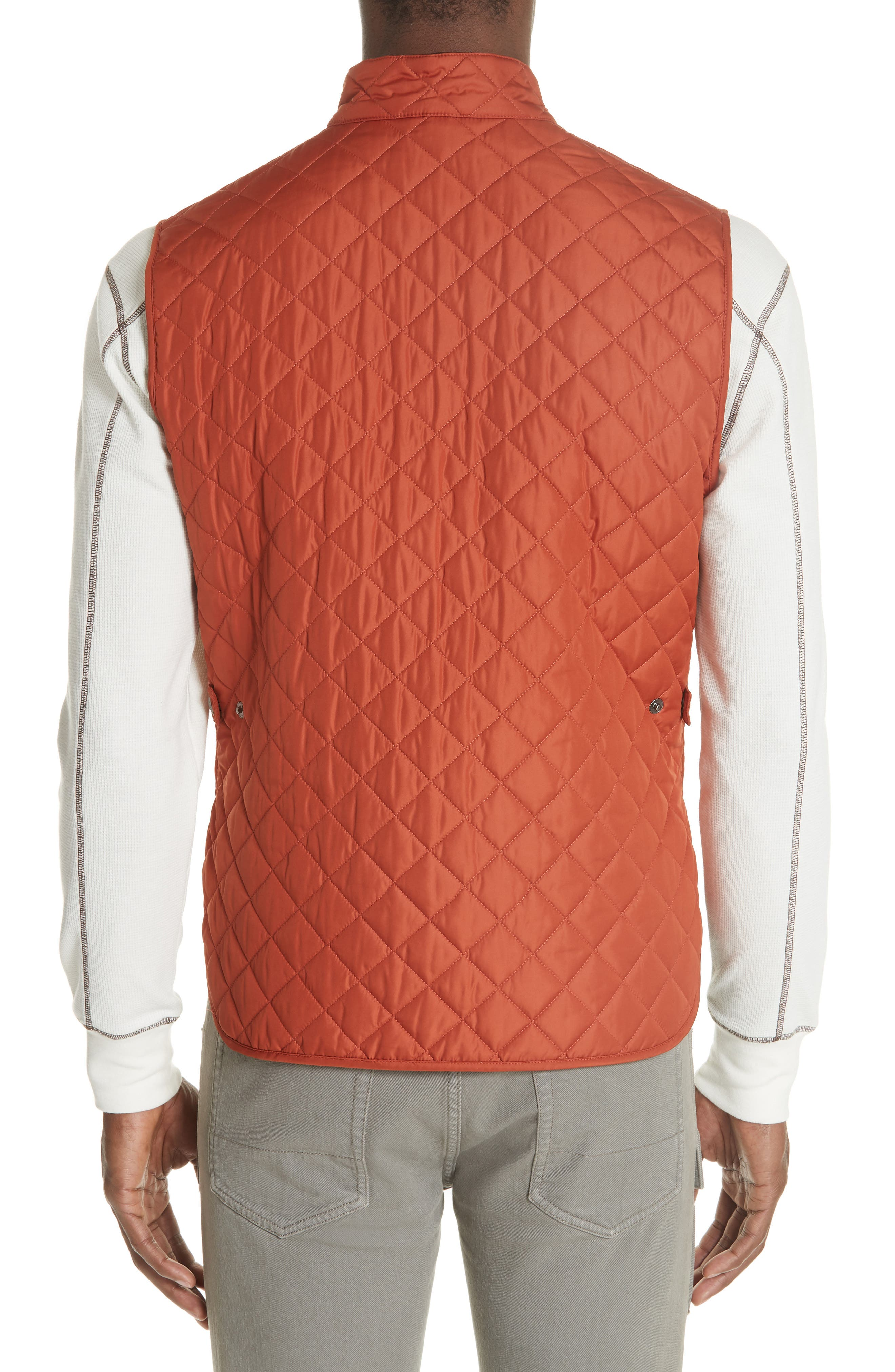 Waistcoat Tech Quilted Vest,                             Alternate thumbnail 2, color,                             BRIGHT TAMERIND