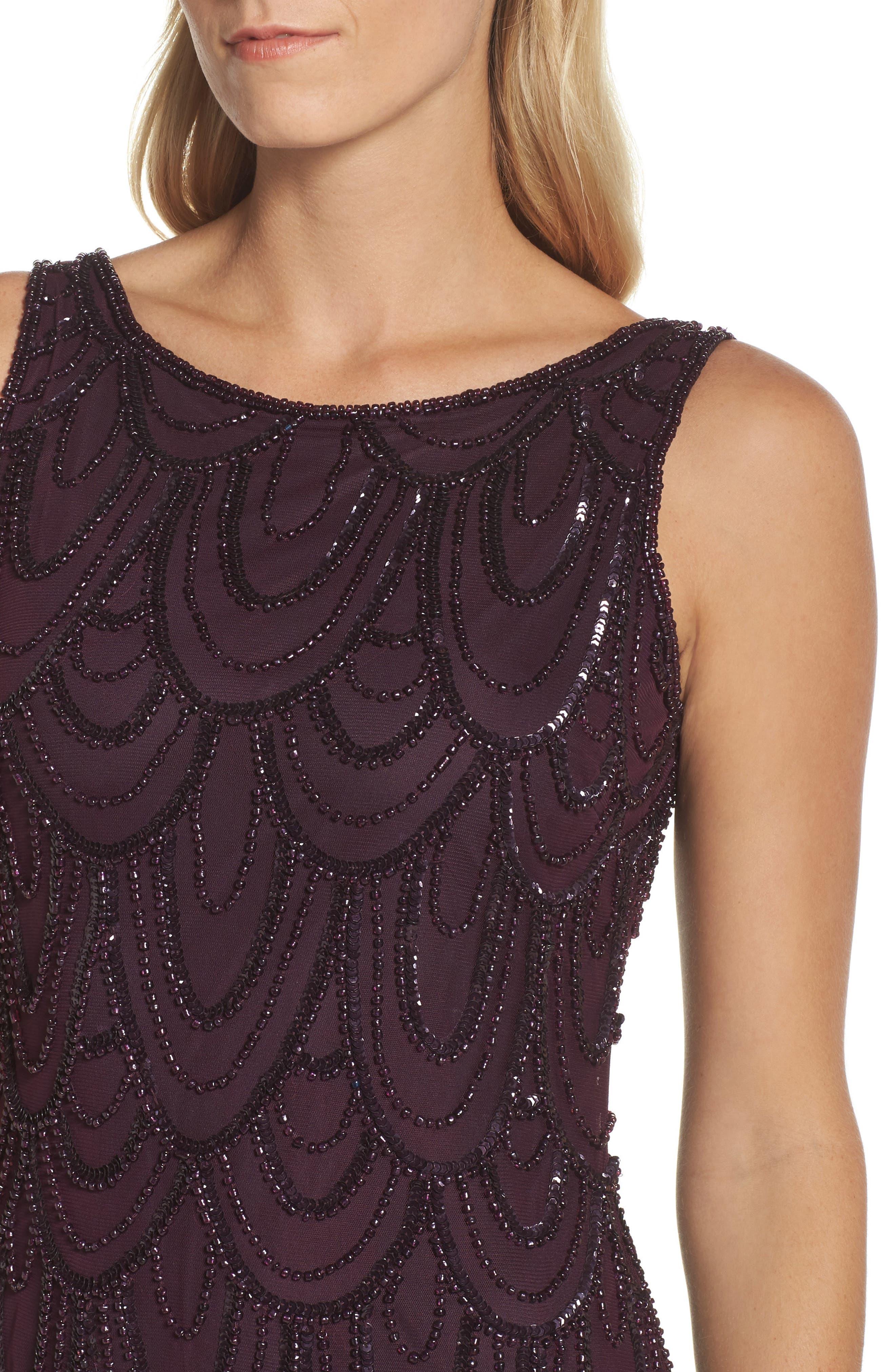 Embellished Mesh Sheath Dress,                             Alternate thumbnail 64, color,