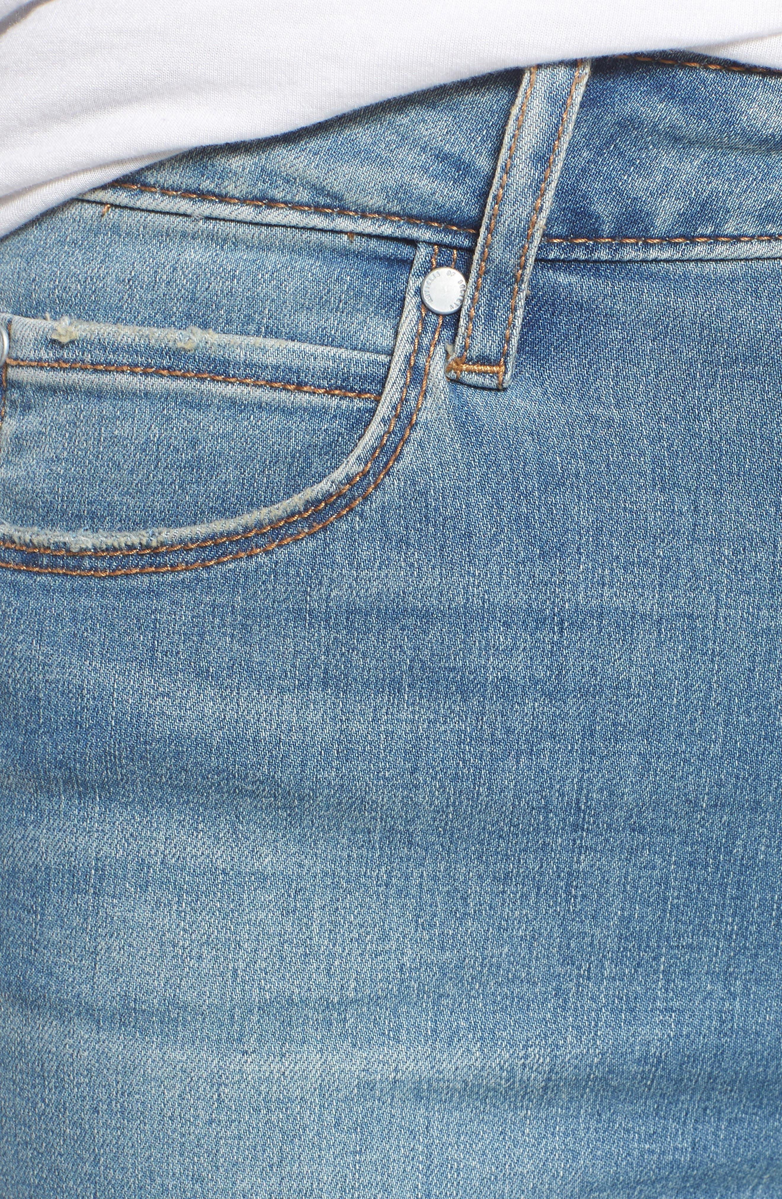 Heather High Waist Skinny Jeans,                             Alternate thumbnail 6, color,                             481
