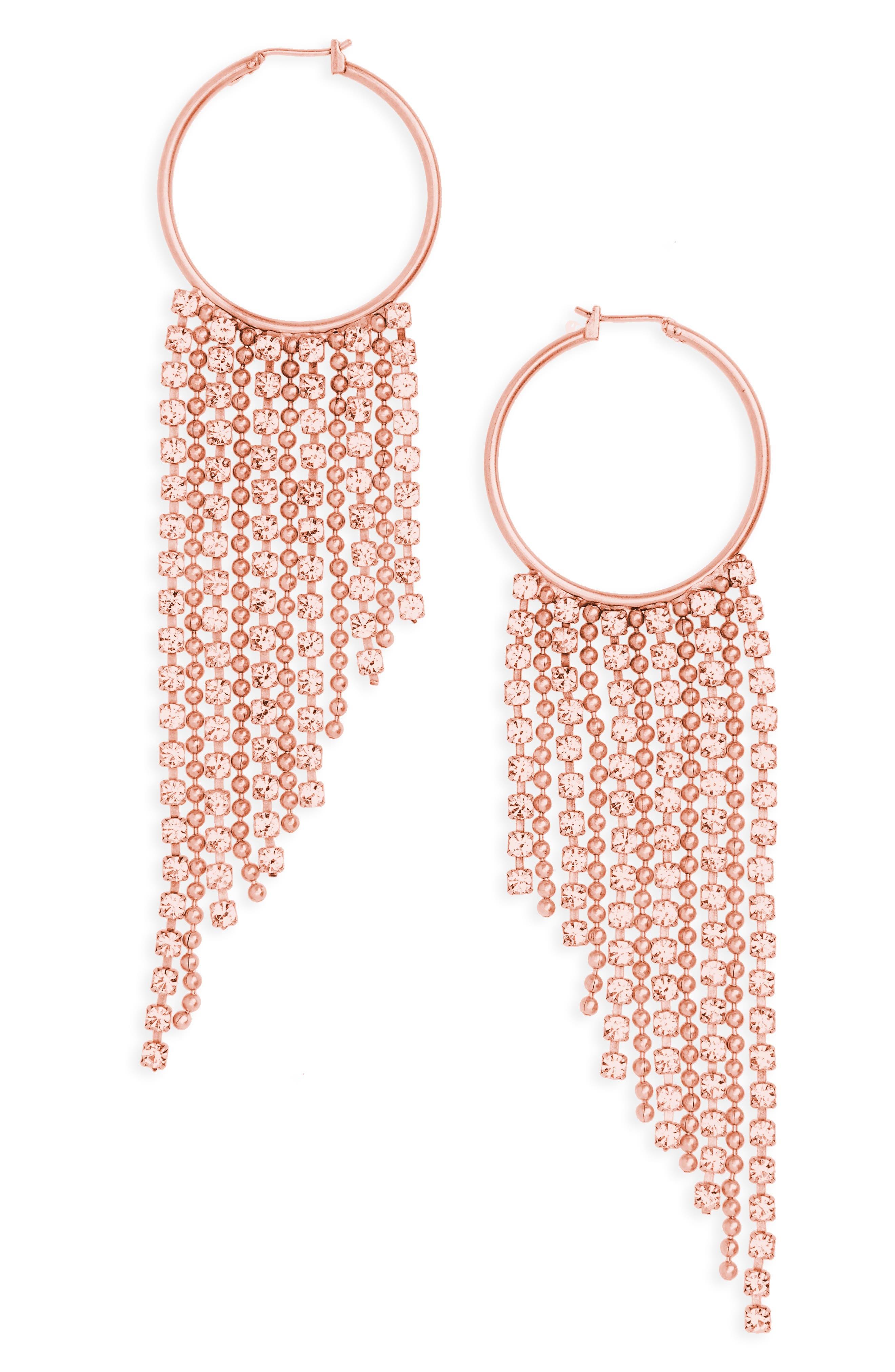 Joanna Fringe Hoop Earrings,                             Main thumbnail 3, color,
