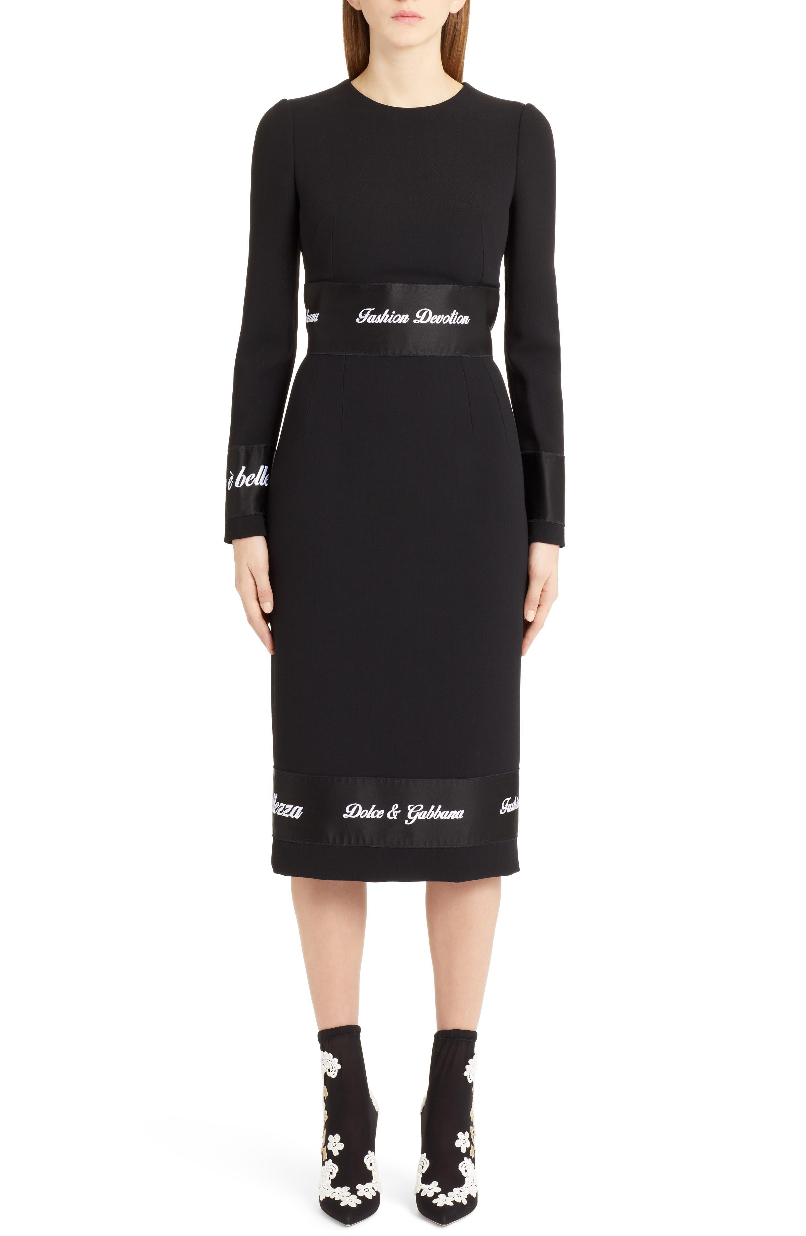 Fashion Devotion Sheath Dress,                             Main thumbnail 1, color,                             BLACK