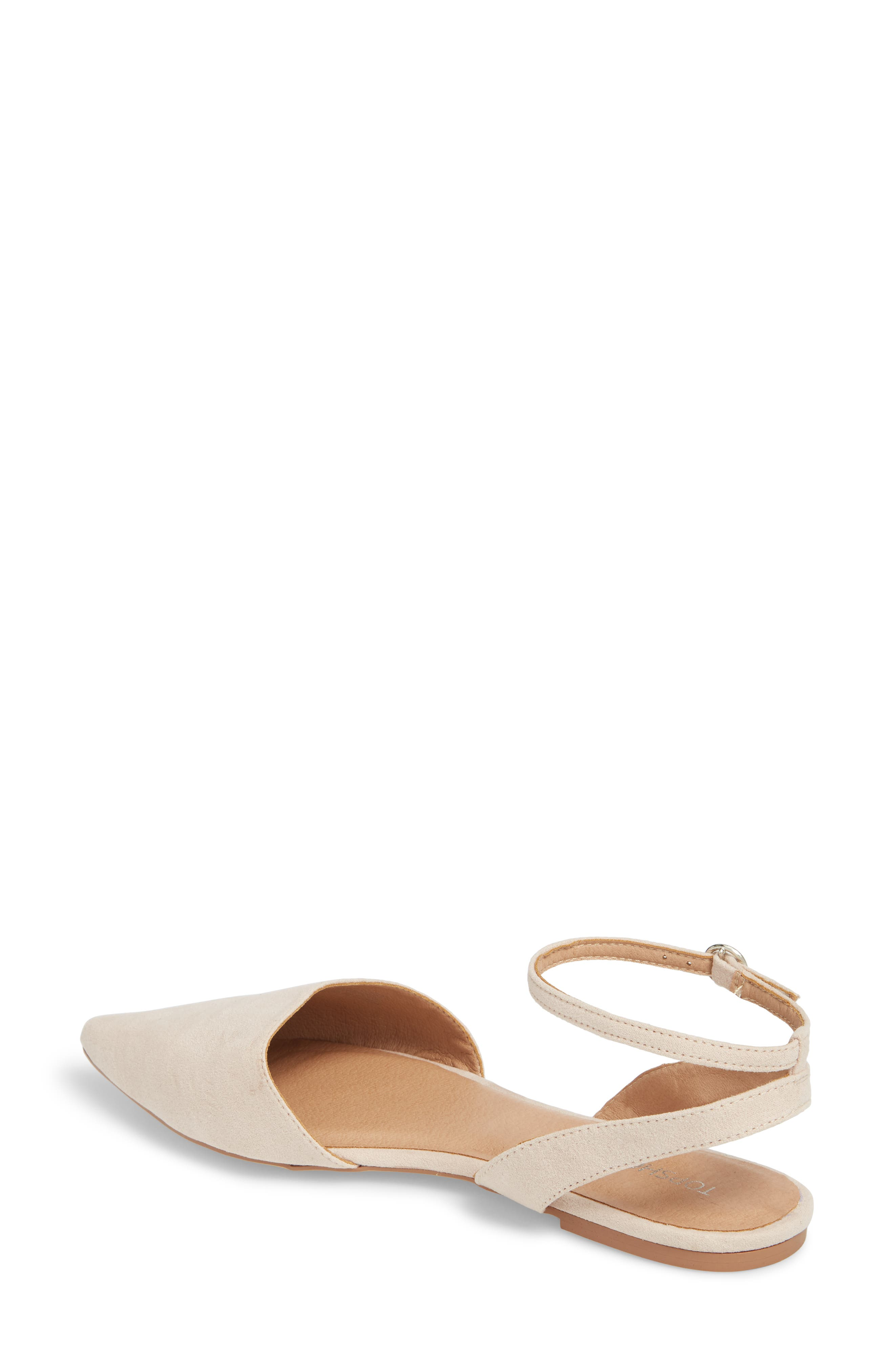 Anne Pointy Toe Flat,                             Alternate thumbnail 2, color,                             NUDE