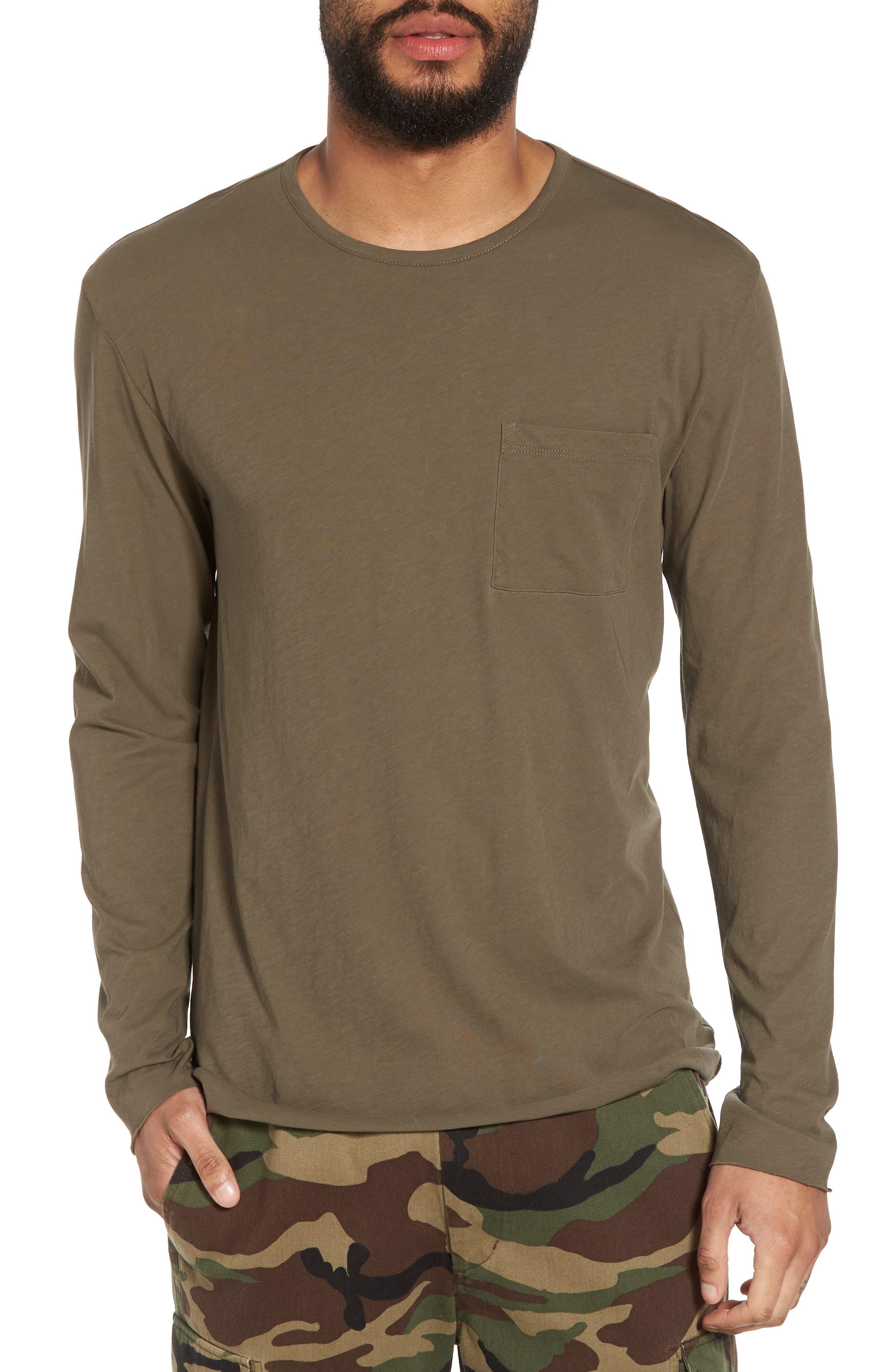 Slim Fit Stripe Pocket T-Shirt,                             Main thumbnail 3, color,