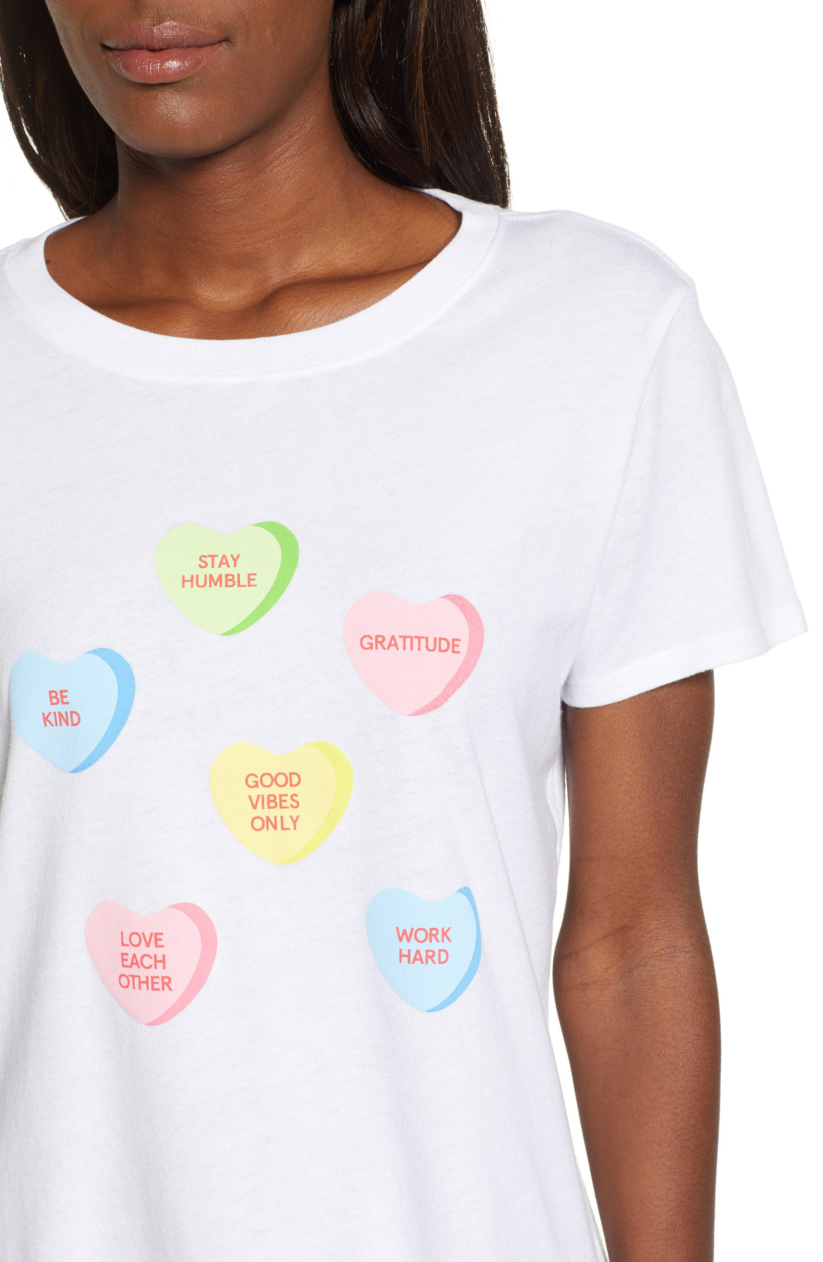 SUB_URBAN RIOT,                             Candy Hearts Slouch Tee,                             Alternate thumbnail 4, color,                             100